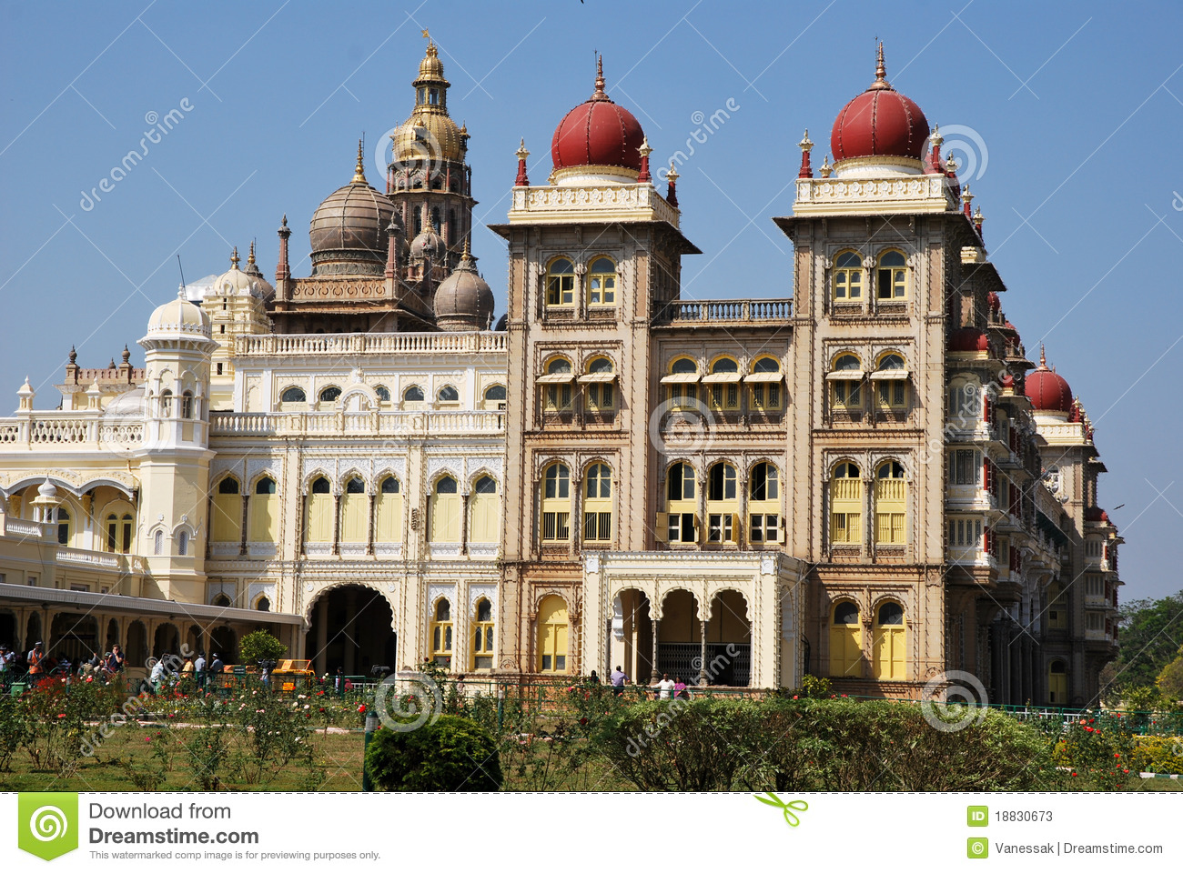 The Mysore palace in India