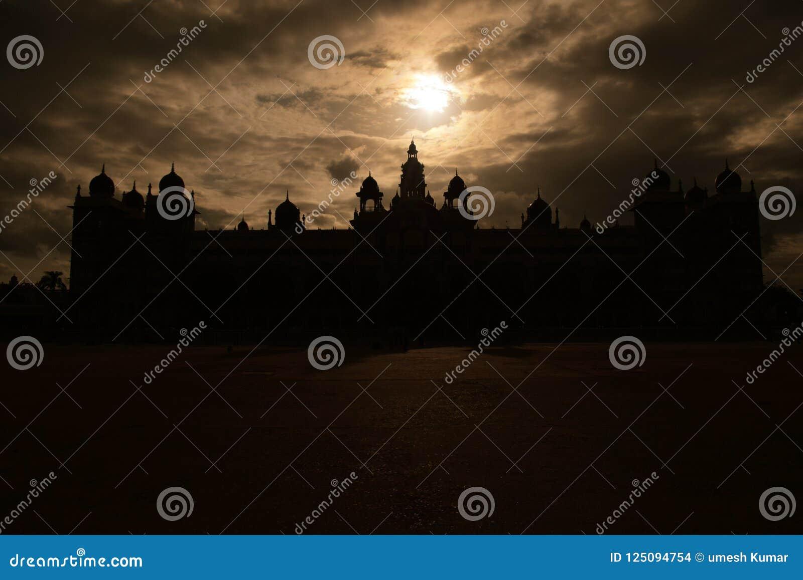 Mysore palace sundet stock photo  Image of palace, isthis - 125094754