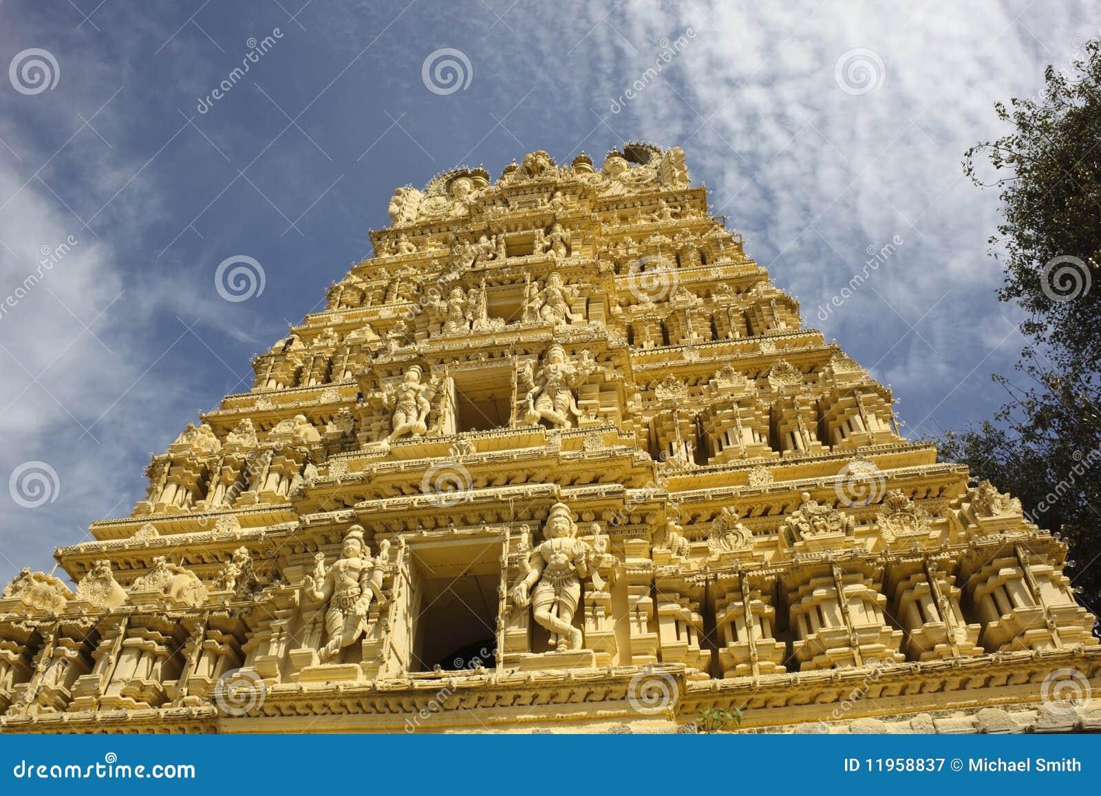 Mysore utsmyckat tempel