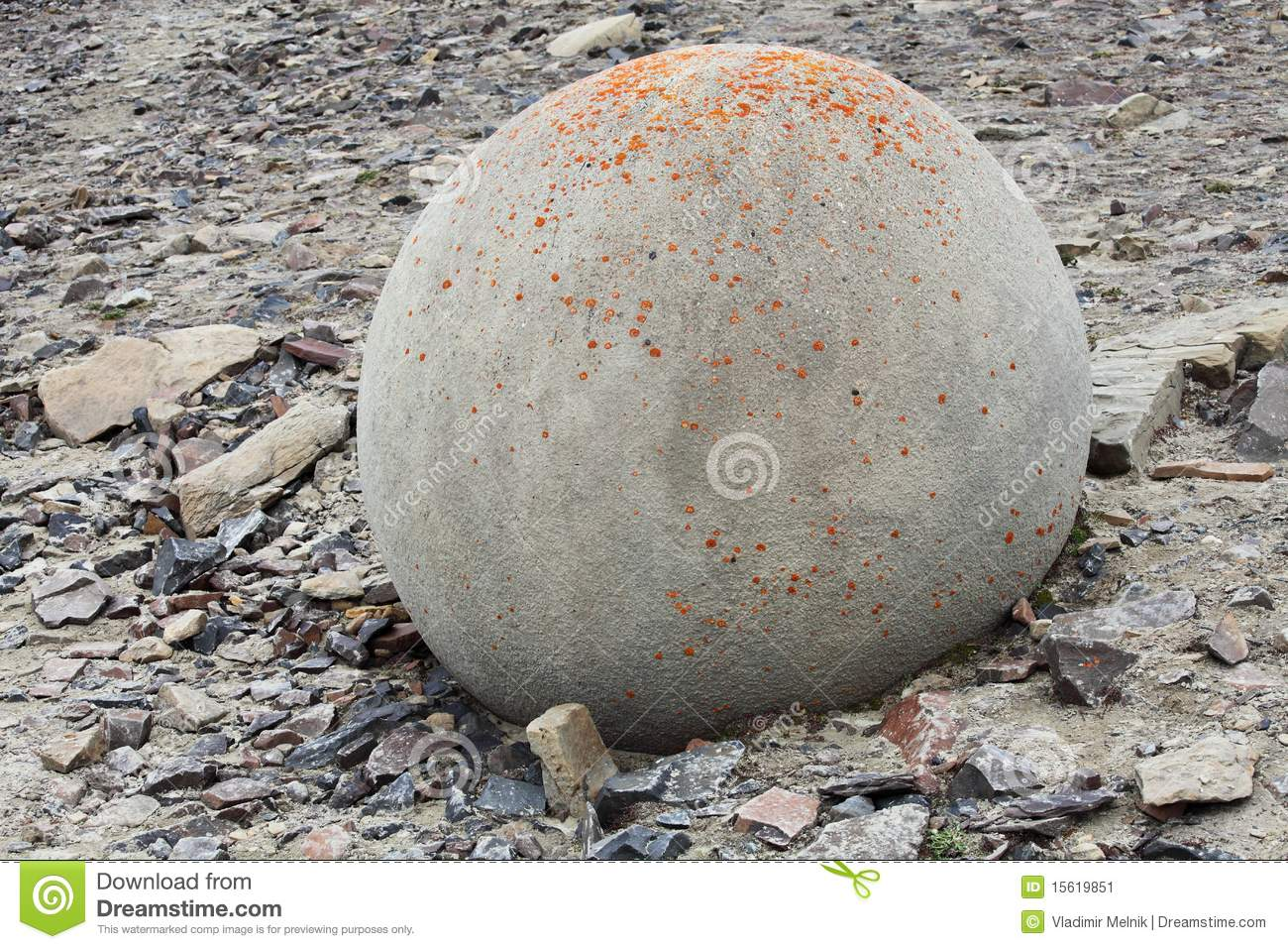 Mysterious boulders and pebbles of Champ Island