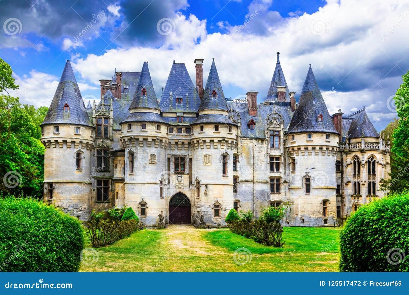 Mysterious fairy-tale castles. Chateau de vigny, France