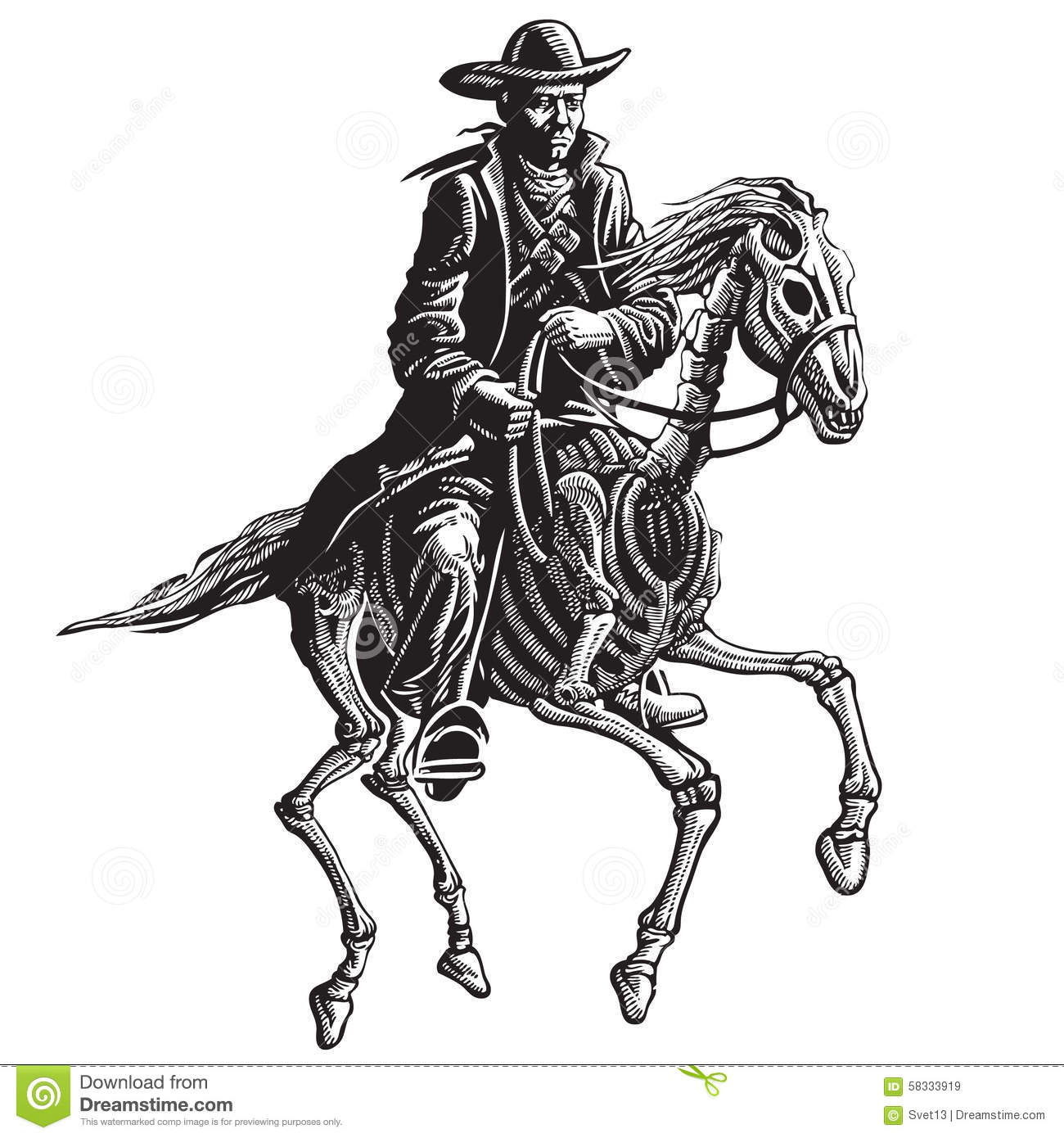bf1878ffc8819 Mysterious horseman stock vector. Illustration of haunted - 58333919