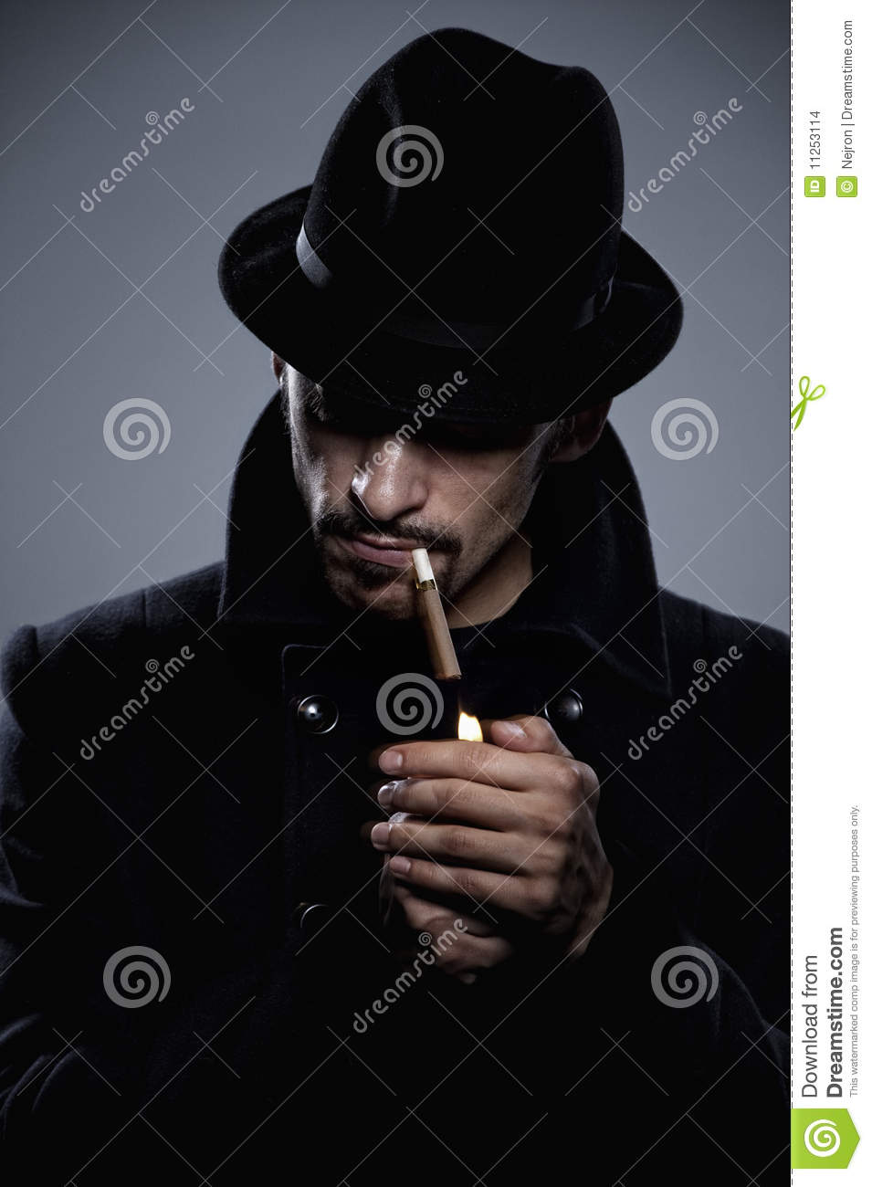 Bad Credit Credit Cards >> Mysterious Man Lighting A Cigarette Stock Images - Image ...