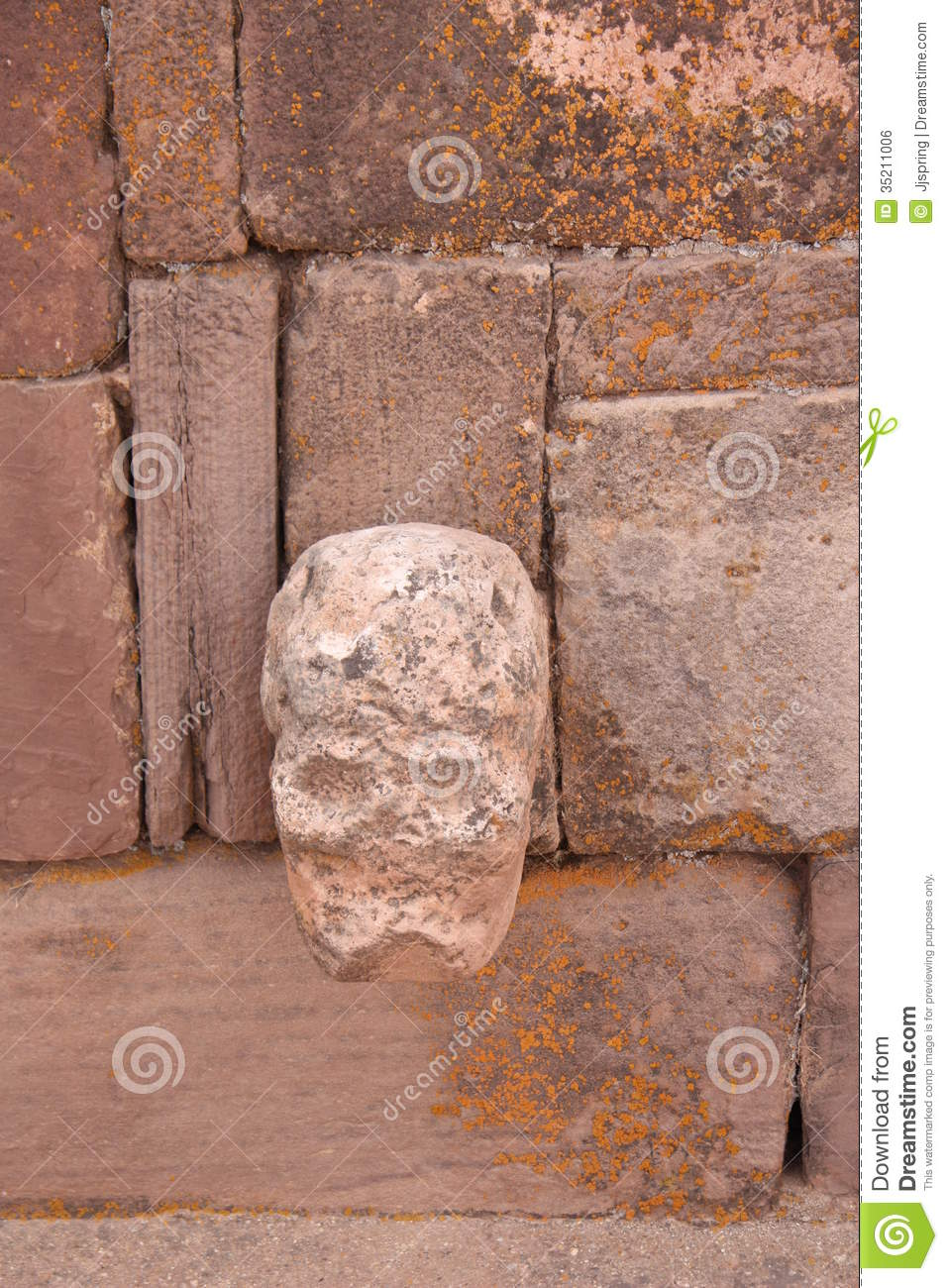 Mysterious Temples In World: Mysterious Skull Head In Semi-Underground Temple