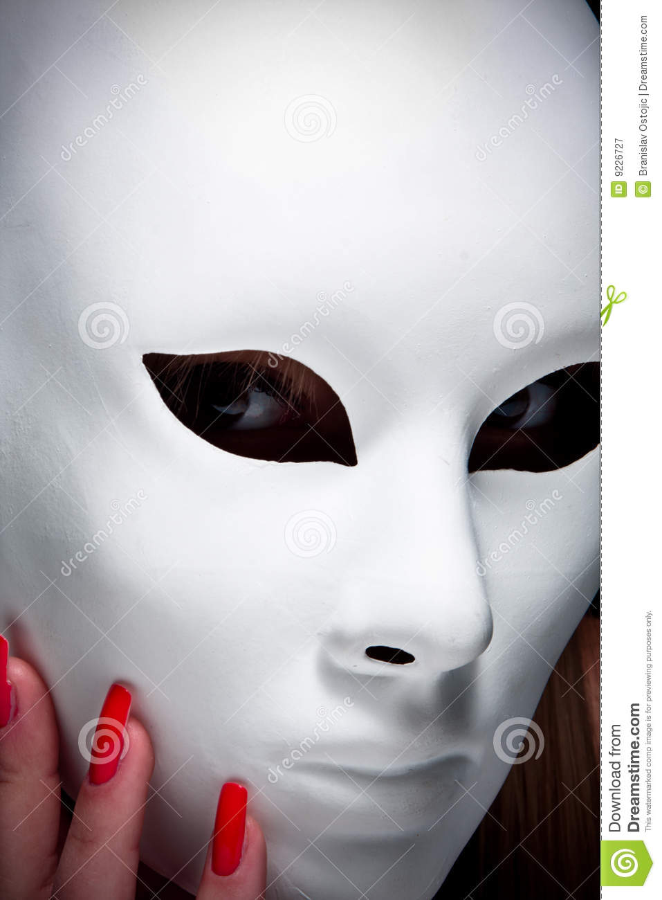 Mysterious Woman Under Mask Royalty Free Stock Photography Image 9226727