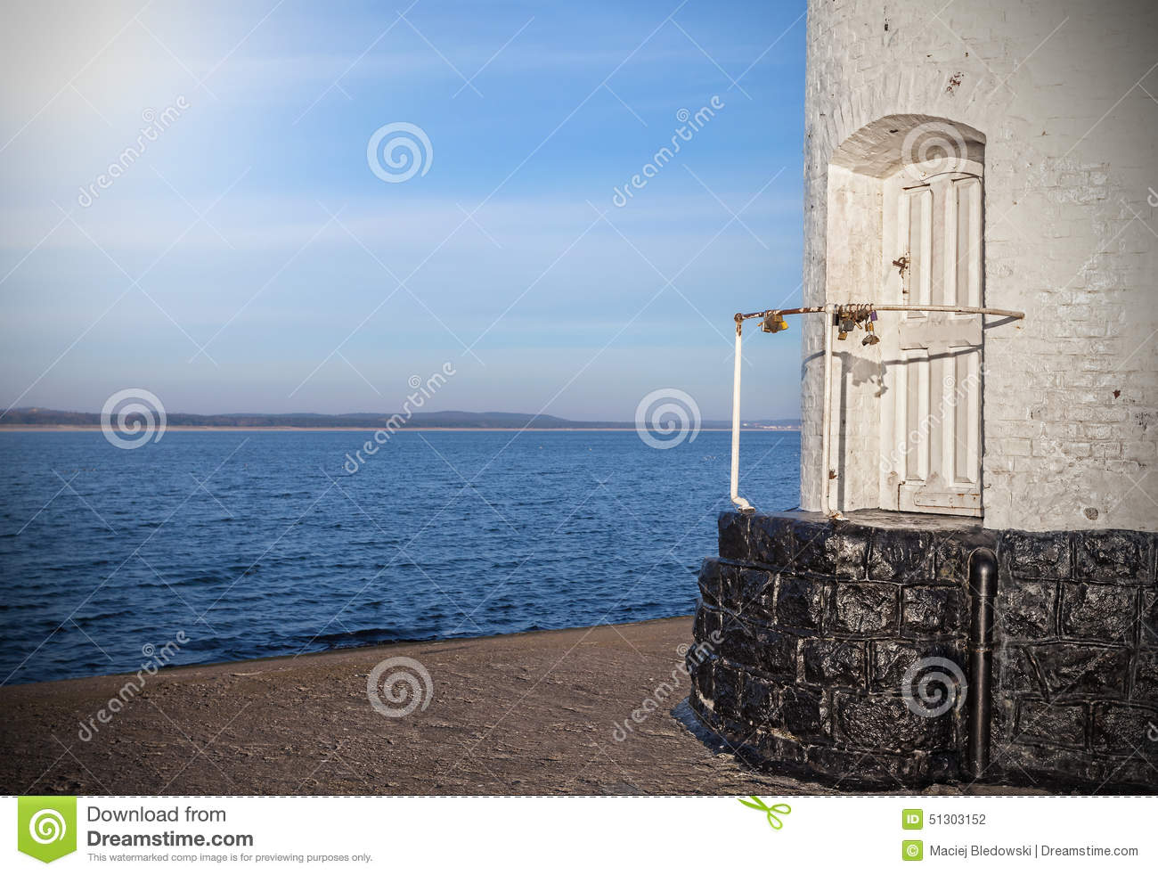 Royalty-Free Stock Photo & Mysterious Wooden Door To The Old Lighthouse. Stock Photo - Image ... Pezcame.Com