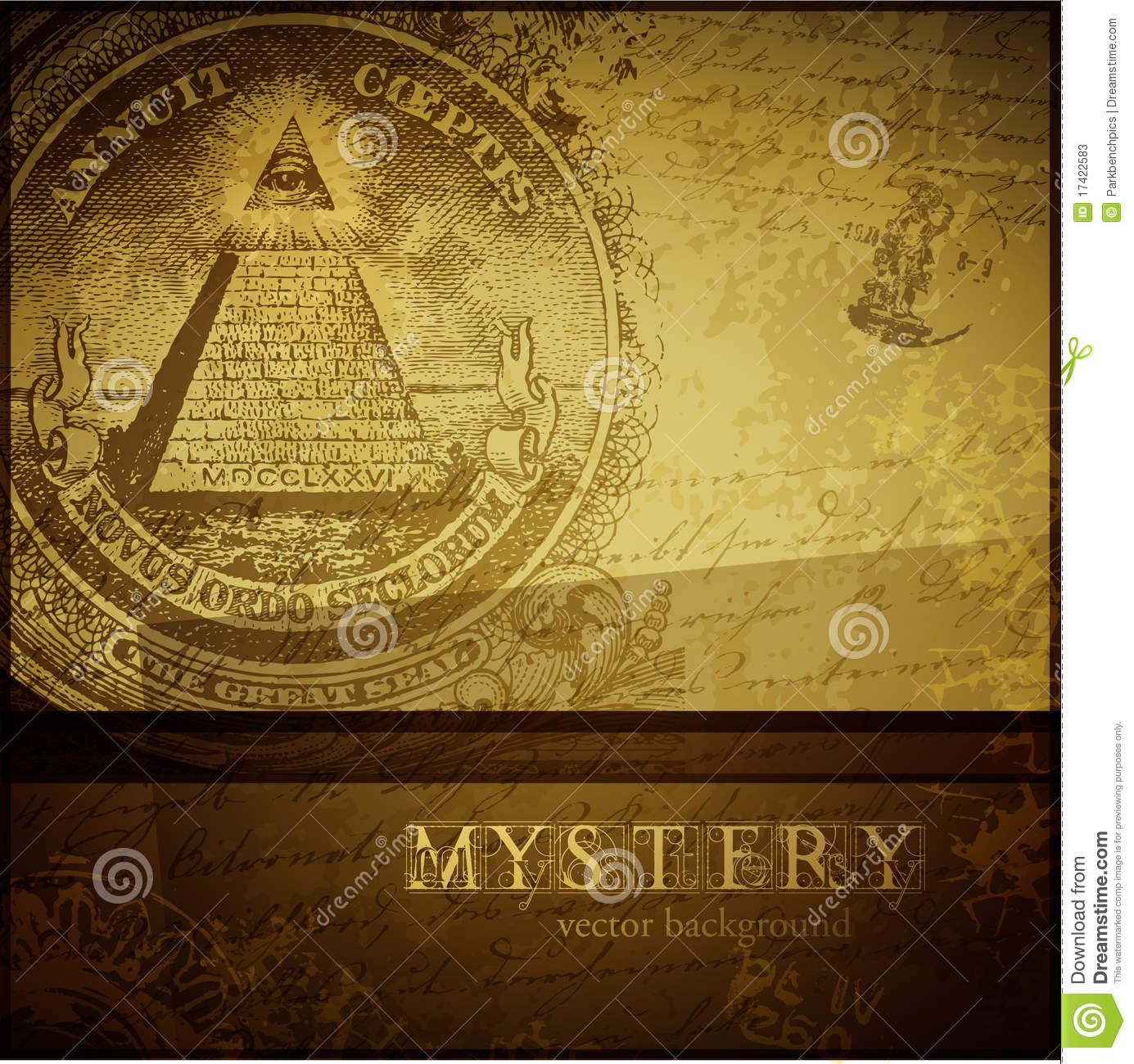 Mystery: Mystery Background Stock Vector. Image Of Engraving, Brown