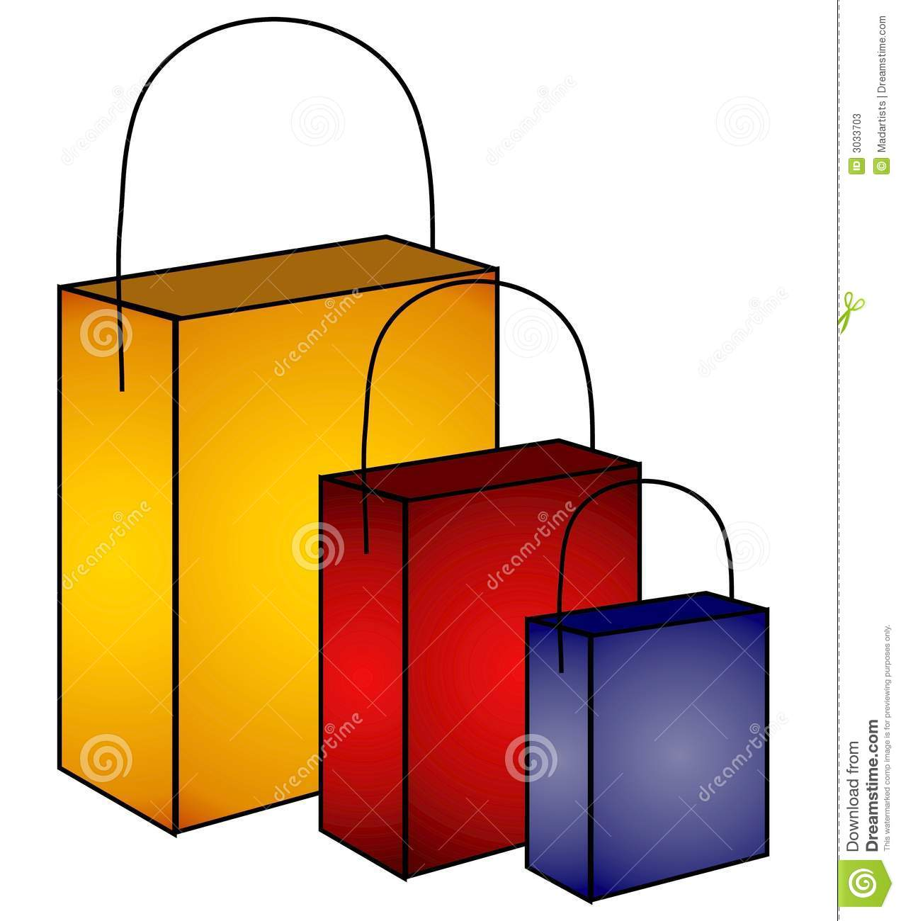 Mystery Shopping Bags Clip Art Stock Photos - Image: 3033703