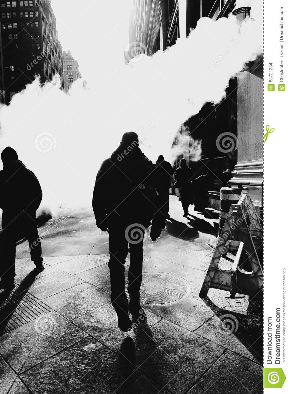 Mystery Smoke Black And White Editorial Stock Image