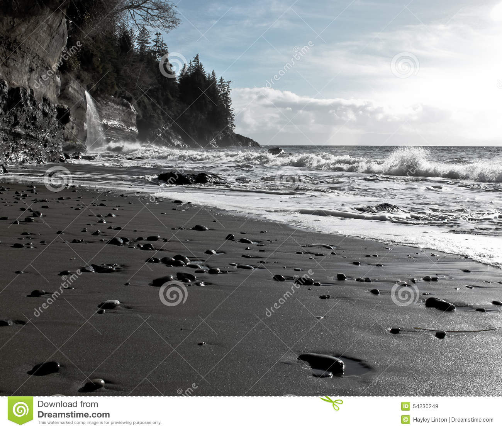 Beaches Vancouver Island: Mystic Beach, Vancouver Island, BC, Canada Stock Photo