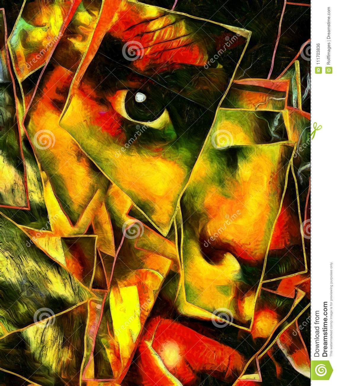 Art Abstract Emotion Fear