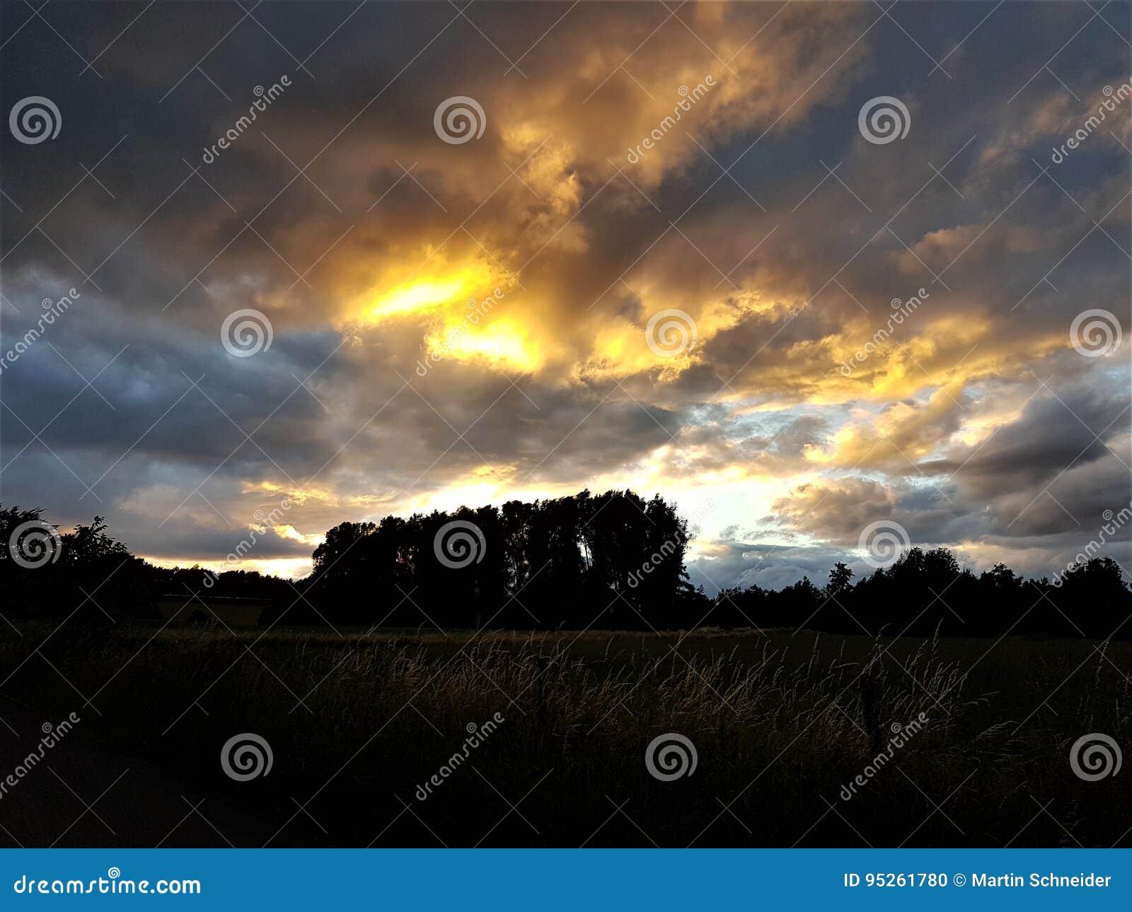 Mystic solnedgång