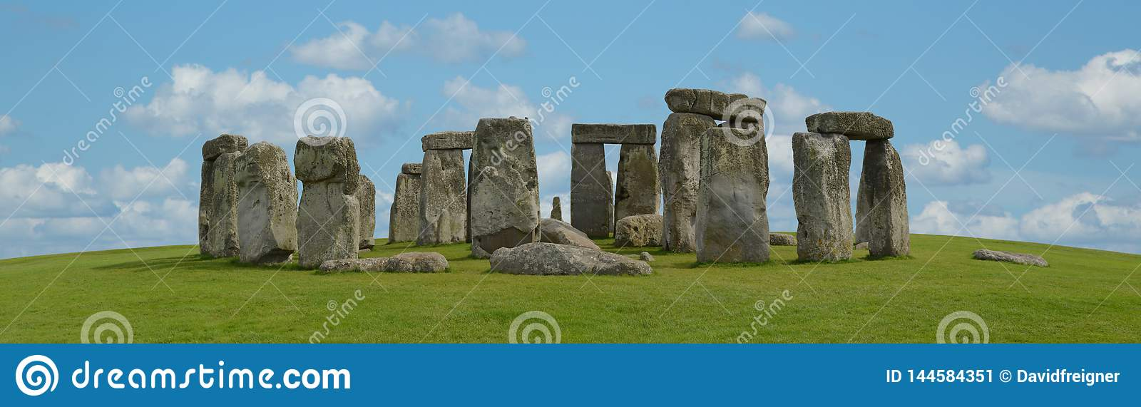 Mystic Stonehenge in England, Europe. Concept for travel, astronomy,religion,esoteric and touristic themes