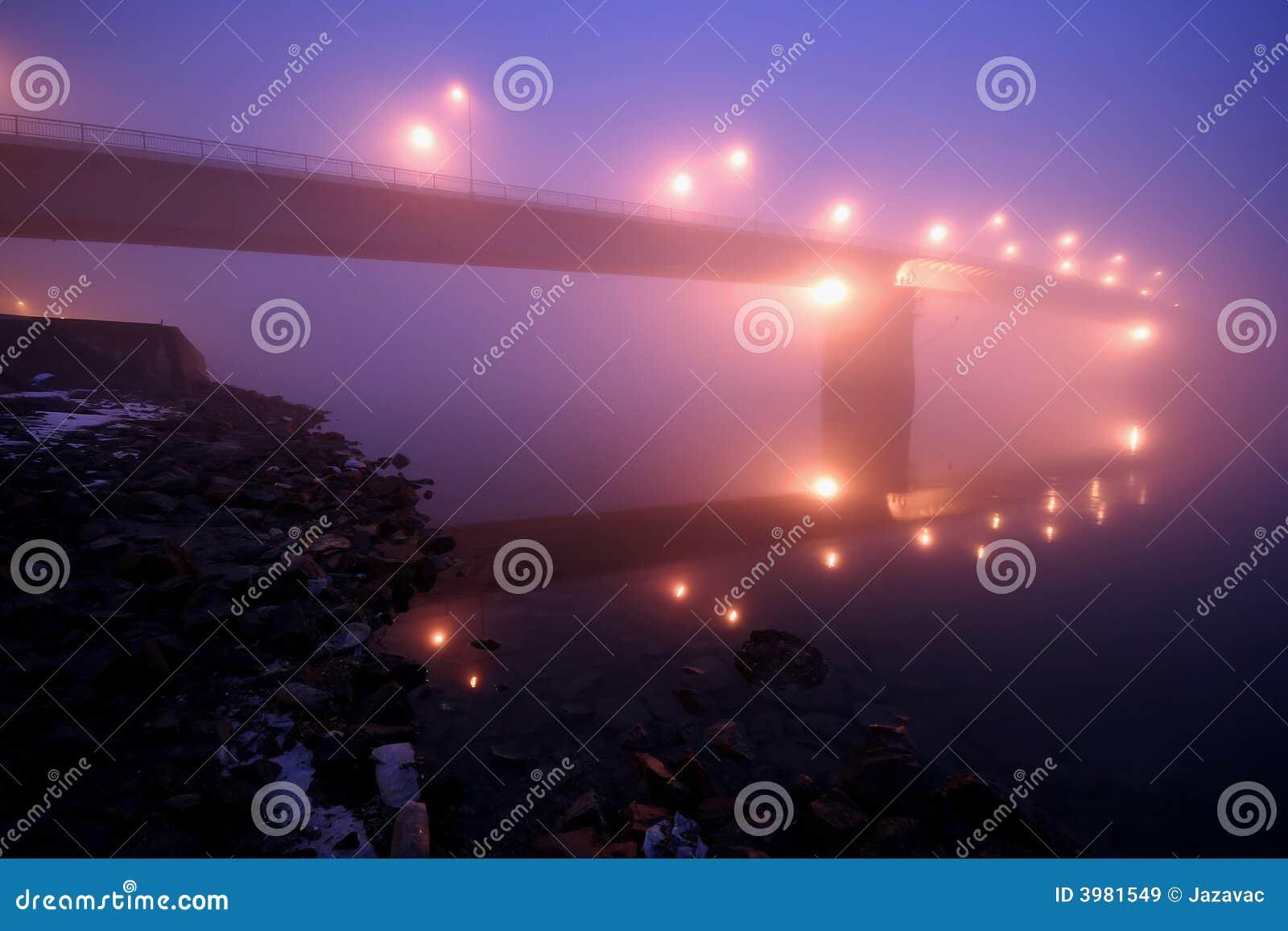 Mystical bgidge in fog