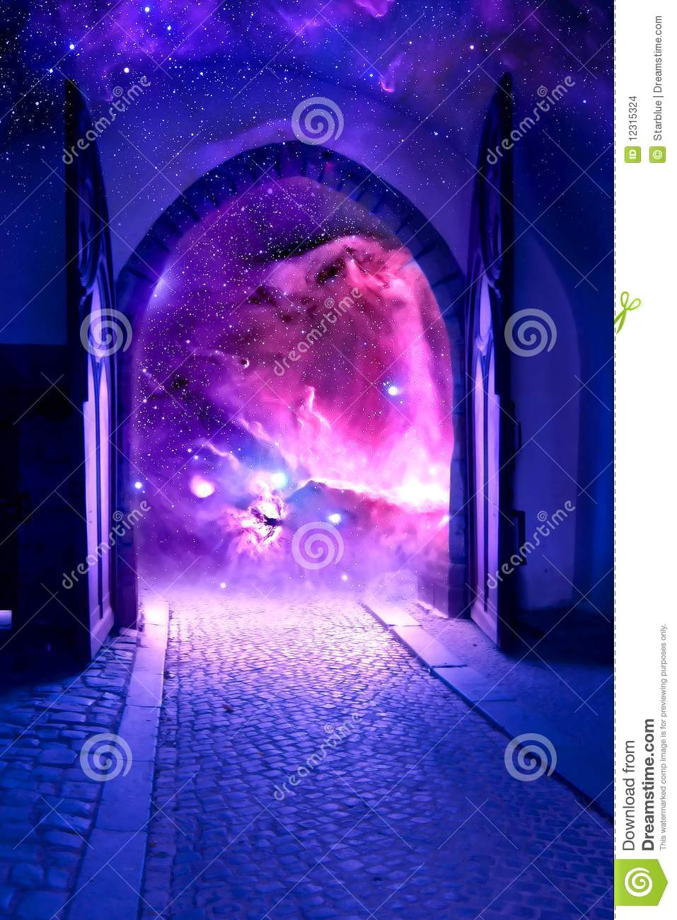 Mystical Gate Stock Illustration Illustration Of