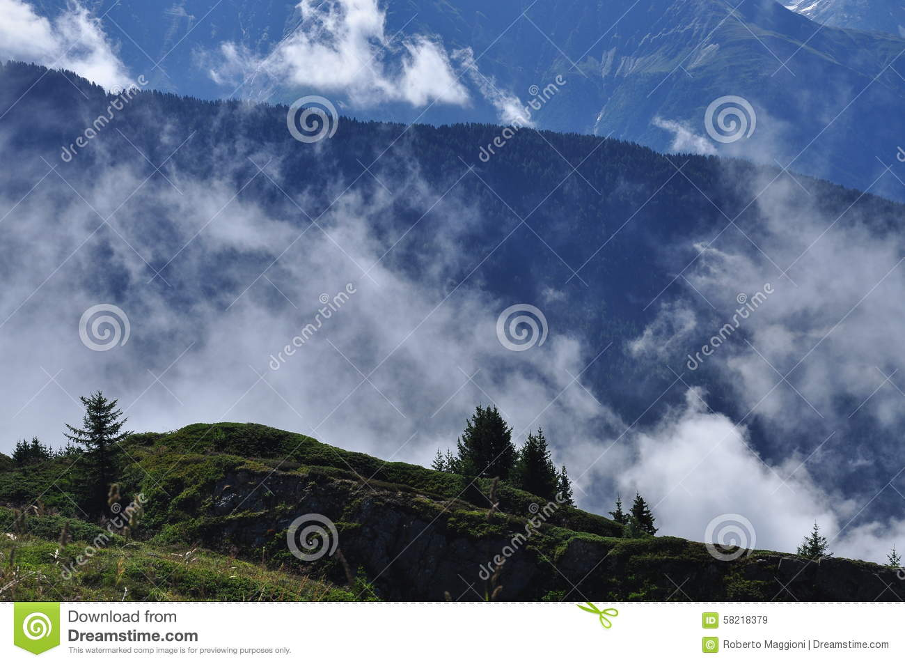 Cold Mountain Evening Stock Photos - Image: 34913383