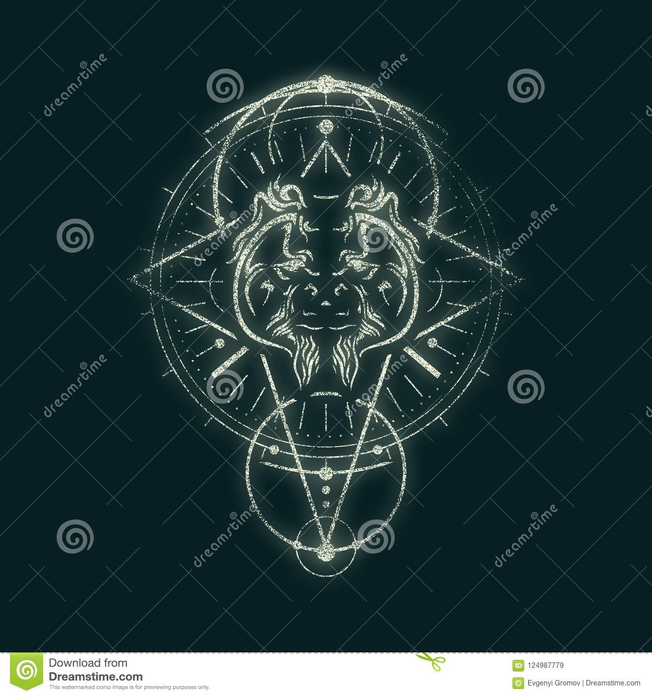 Mystical Occult Symbol Stock Illustration Illustration Of Emblem