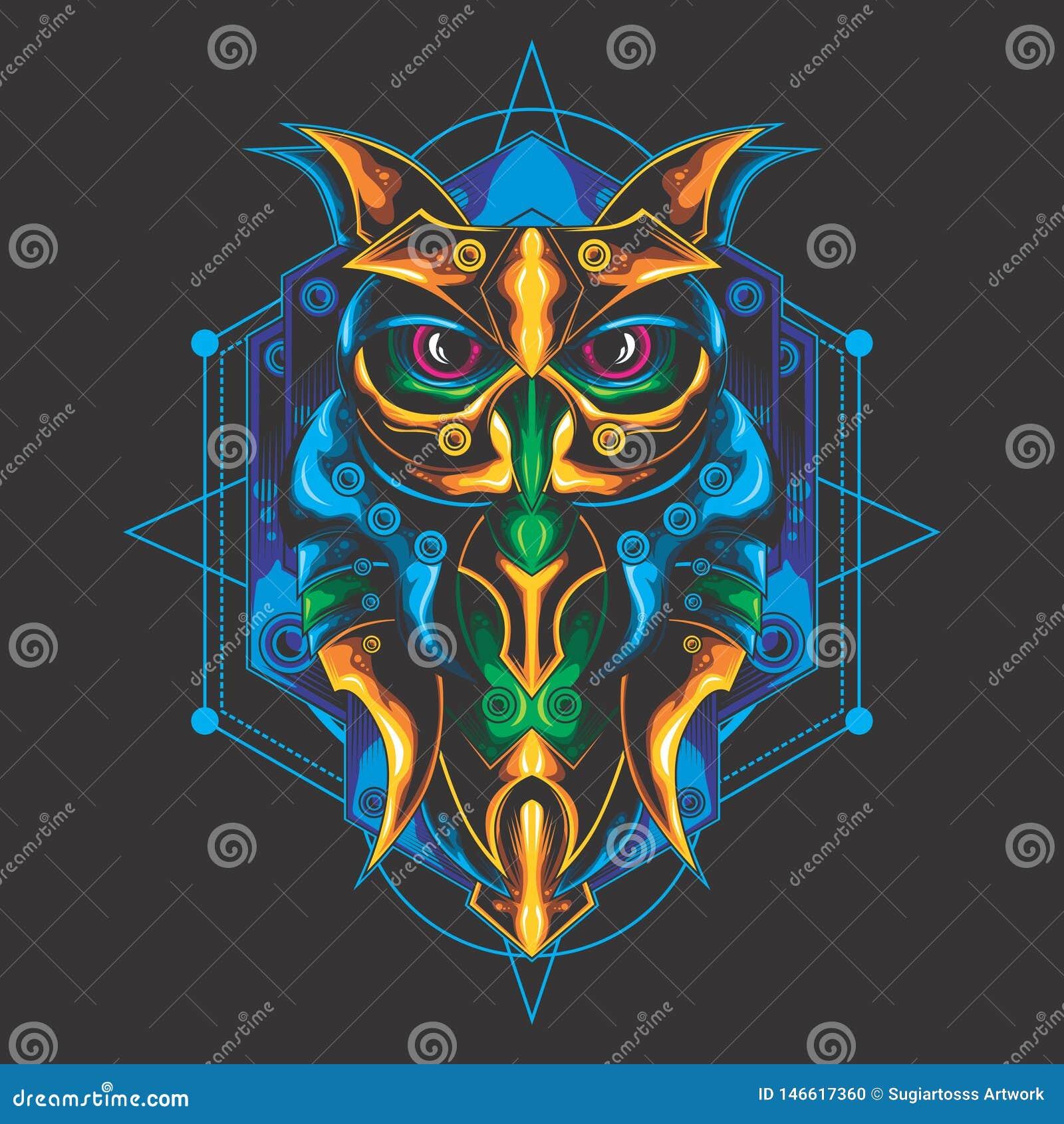 Mystical owl design