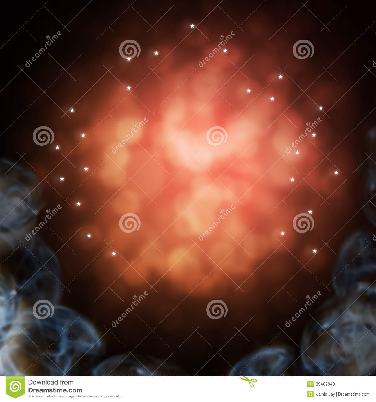 Mystical smokey sparkle background stock illustration for Outer image design