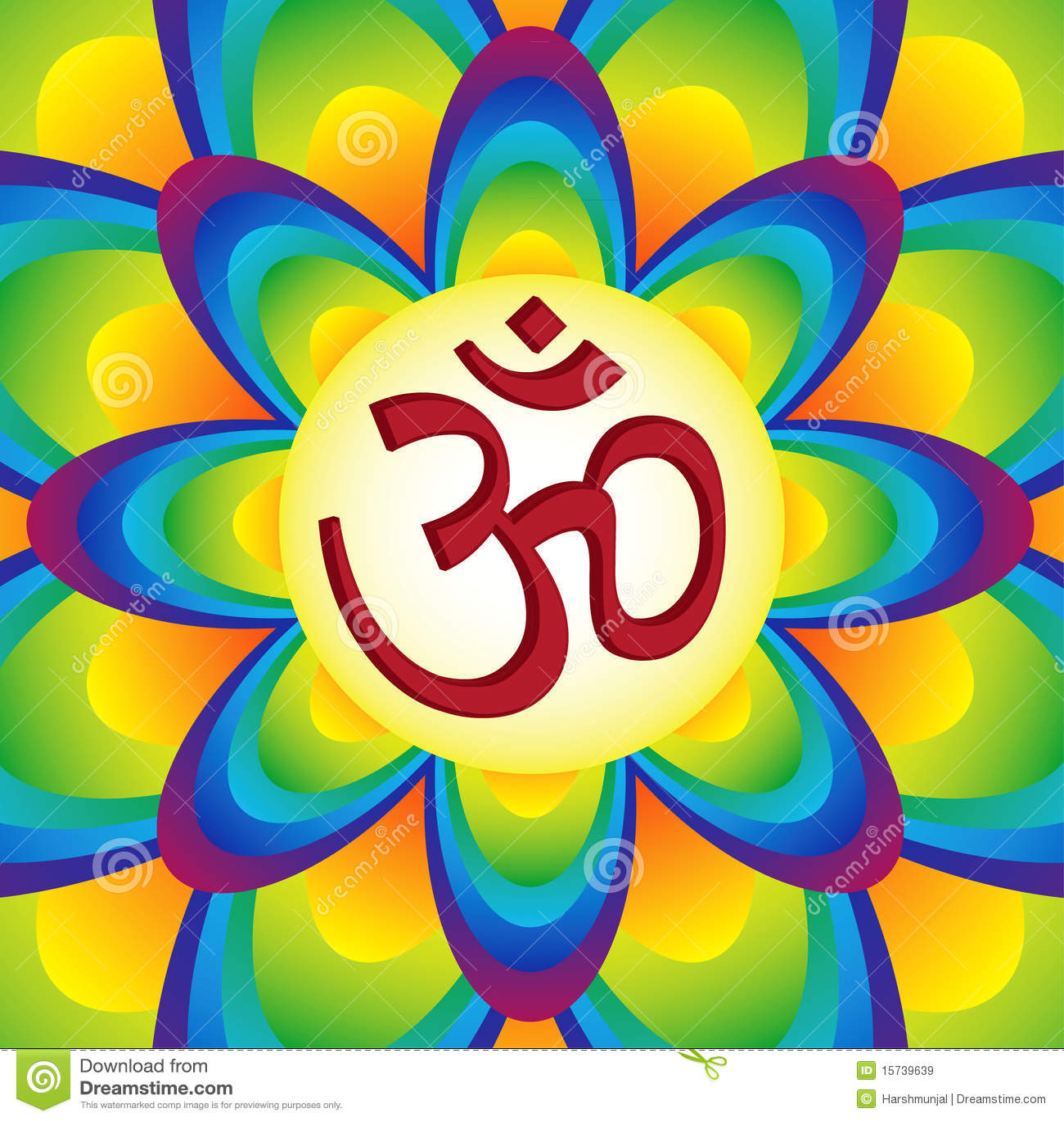 Mystieke en heilige manta van Hindoeïsme â OM/Aum
