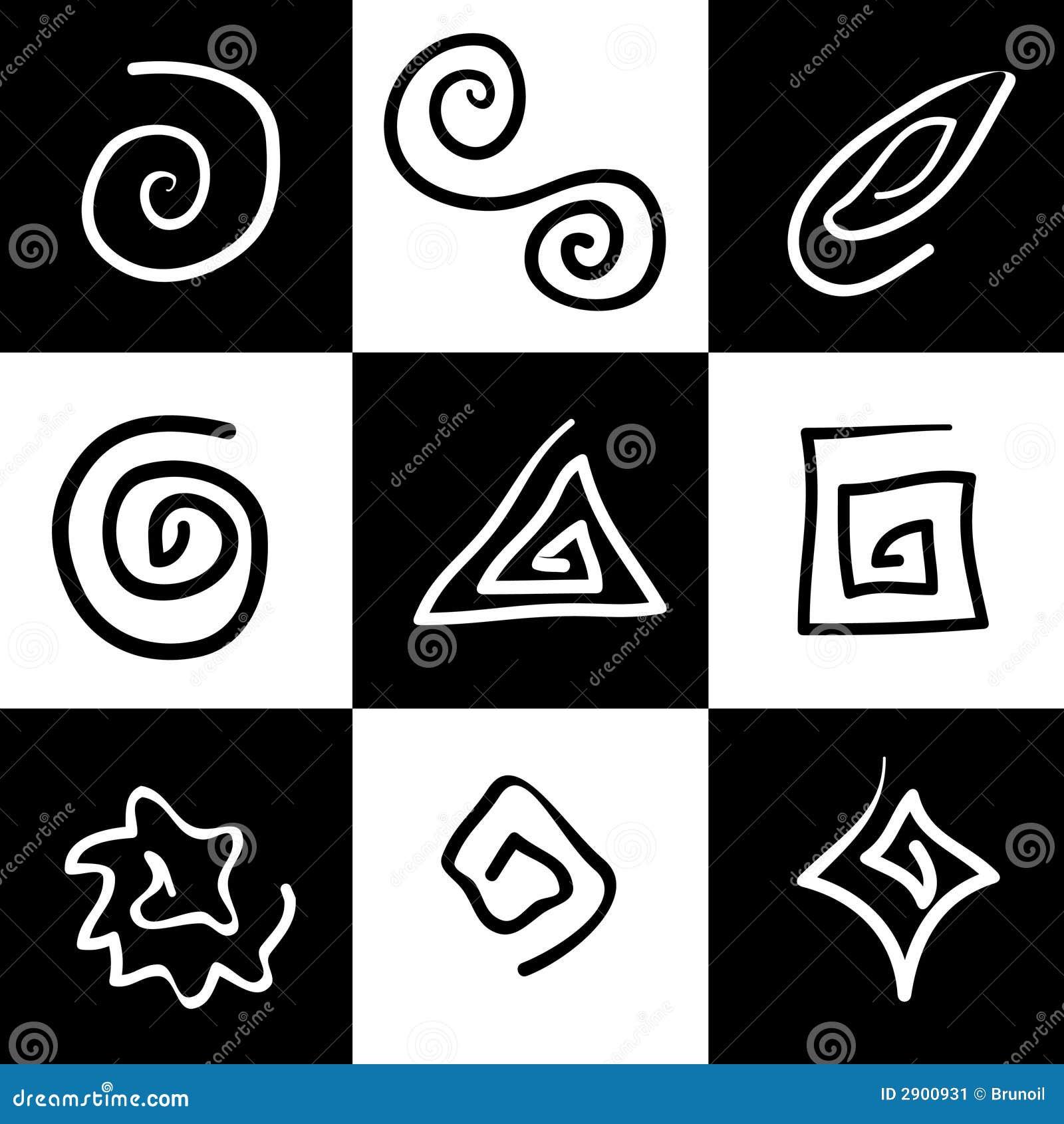 Mystische Symbole