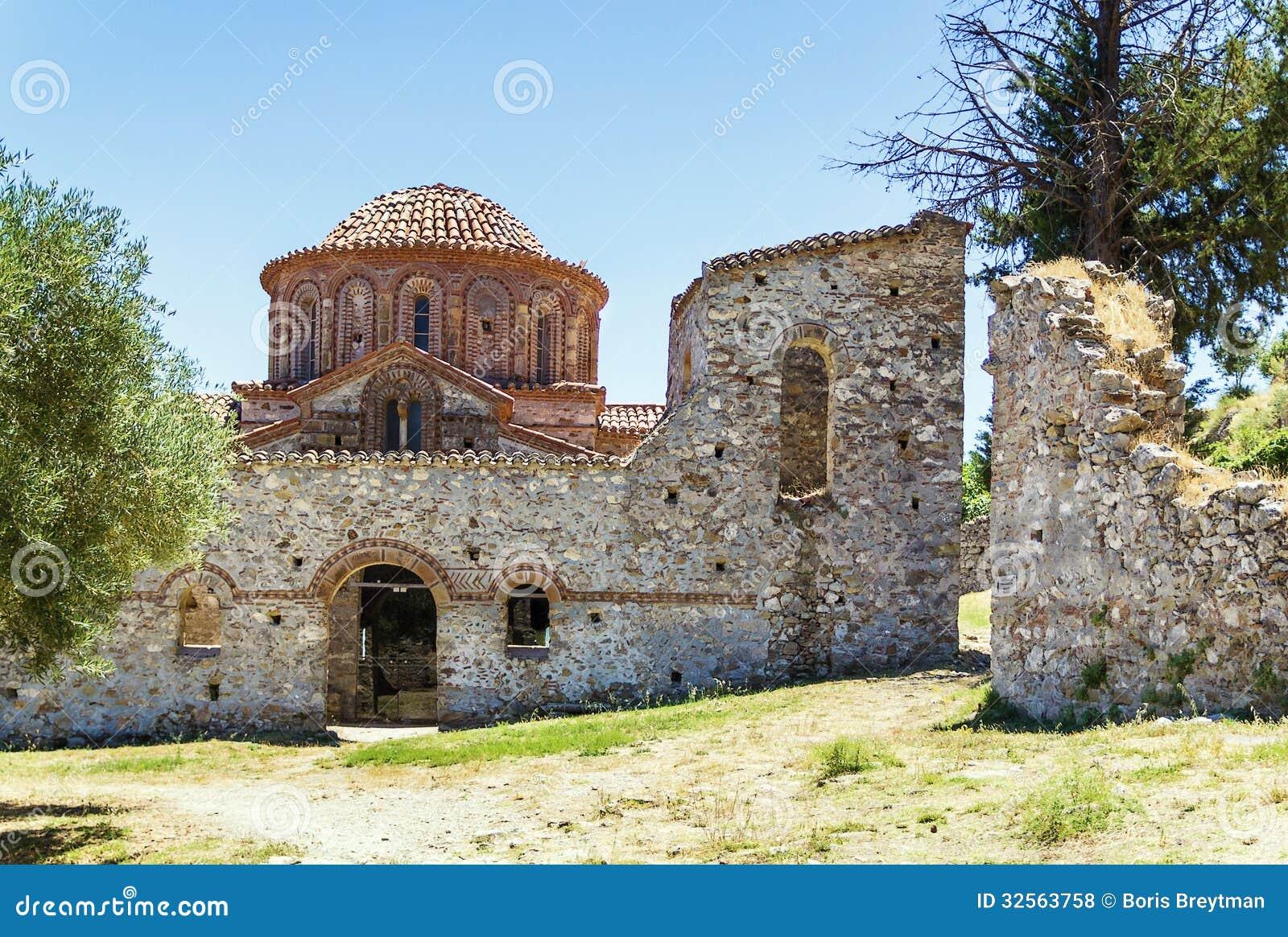 mystras greece royalty free stock photos image 32563758