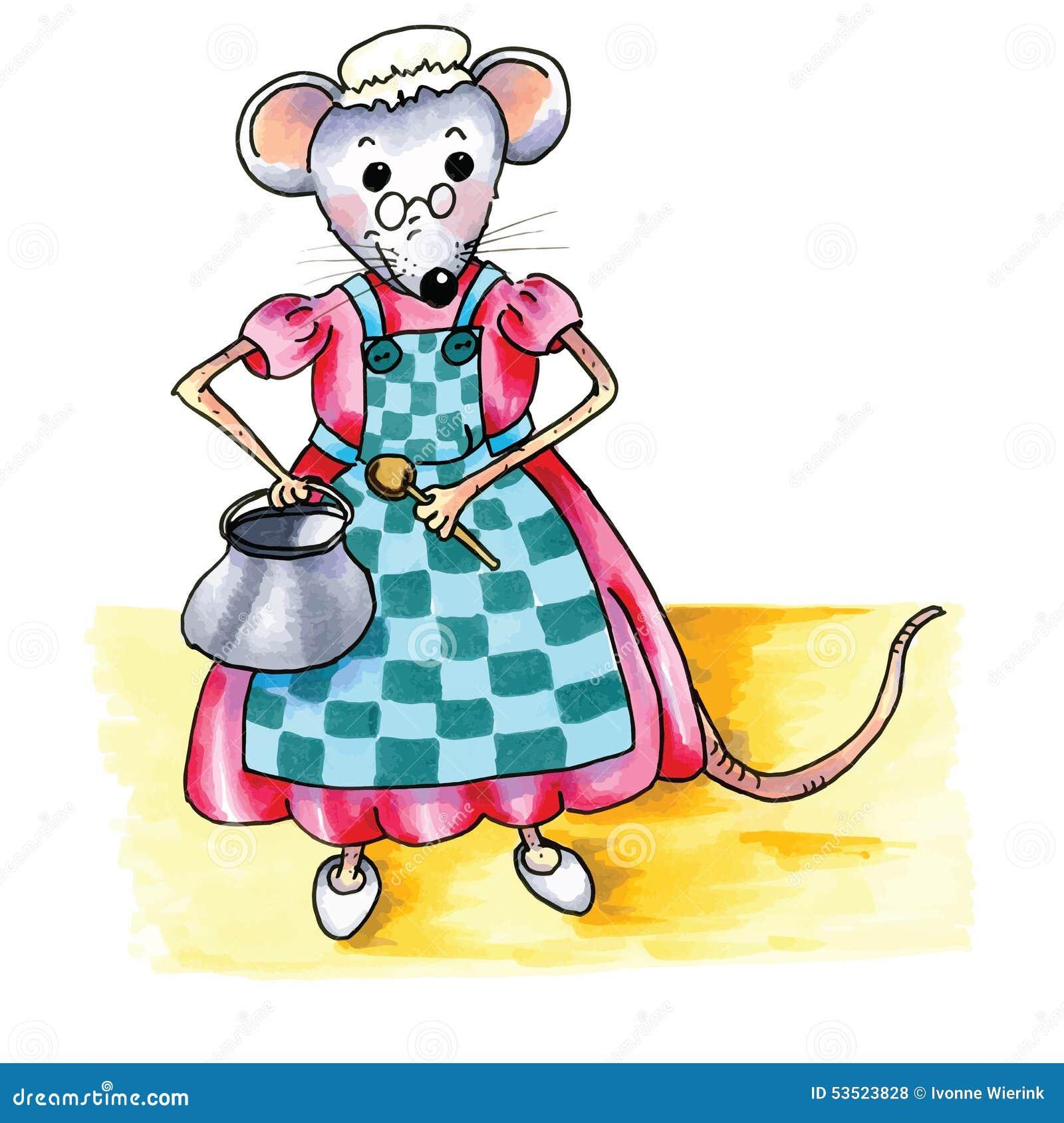 Znalezione obrazy dla zapytania mysz w kuchni ilustracja