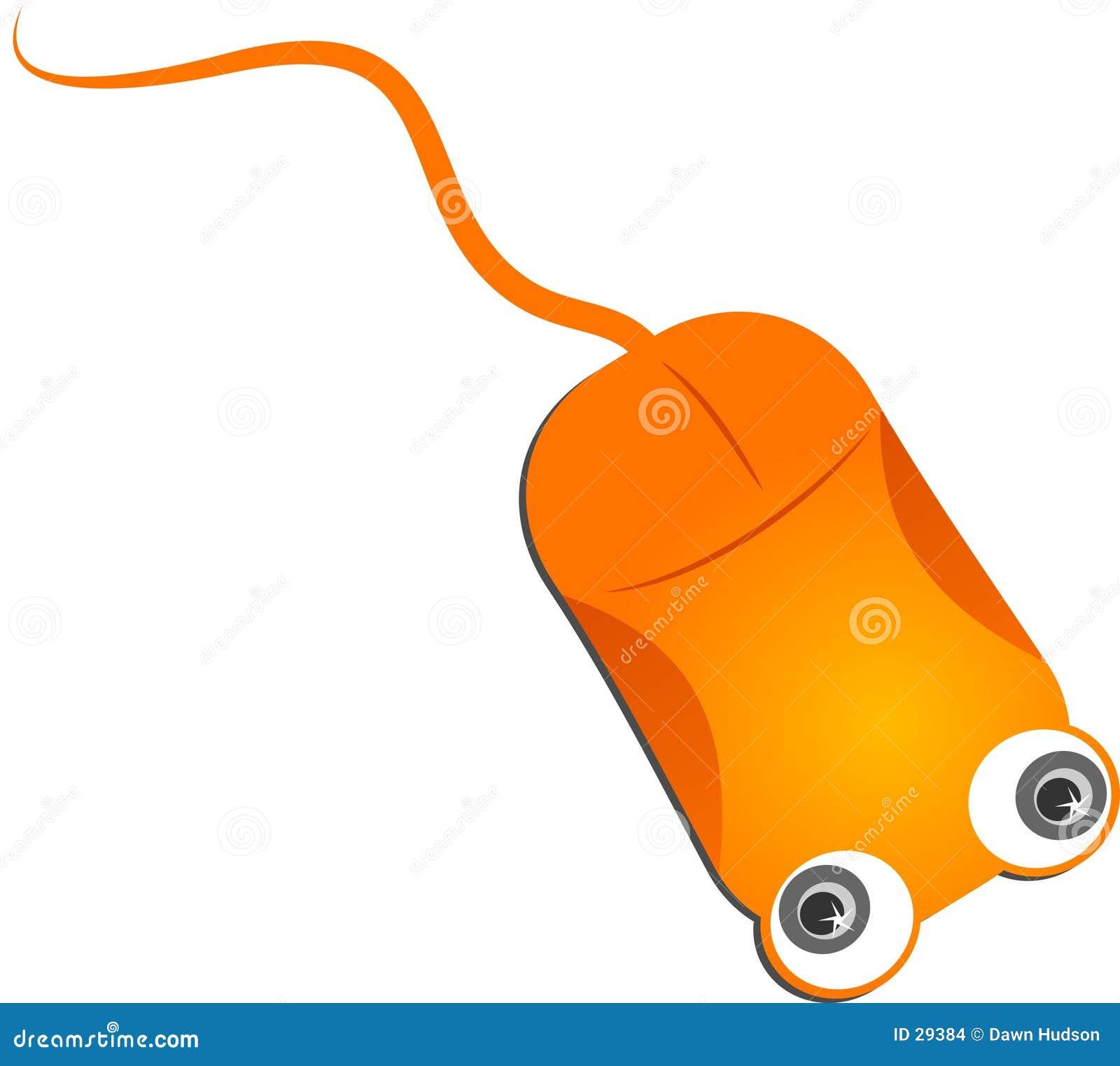 Mysz komputerowa pomarańcze