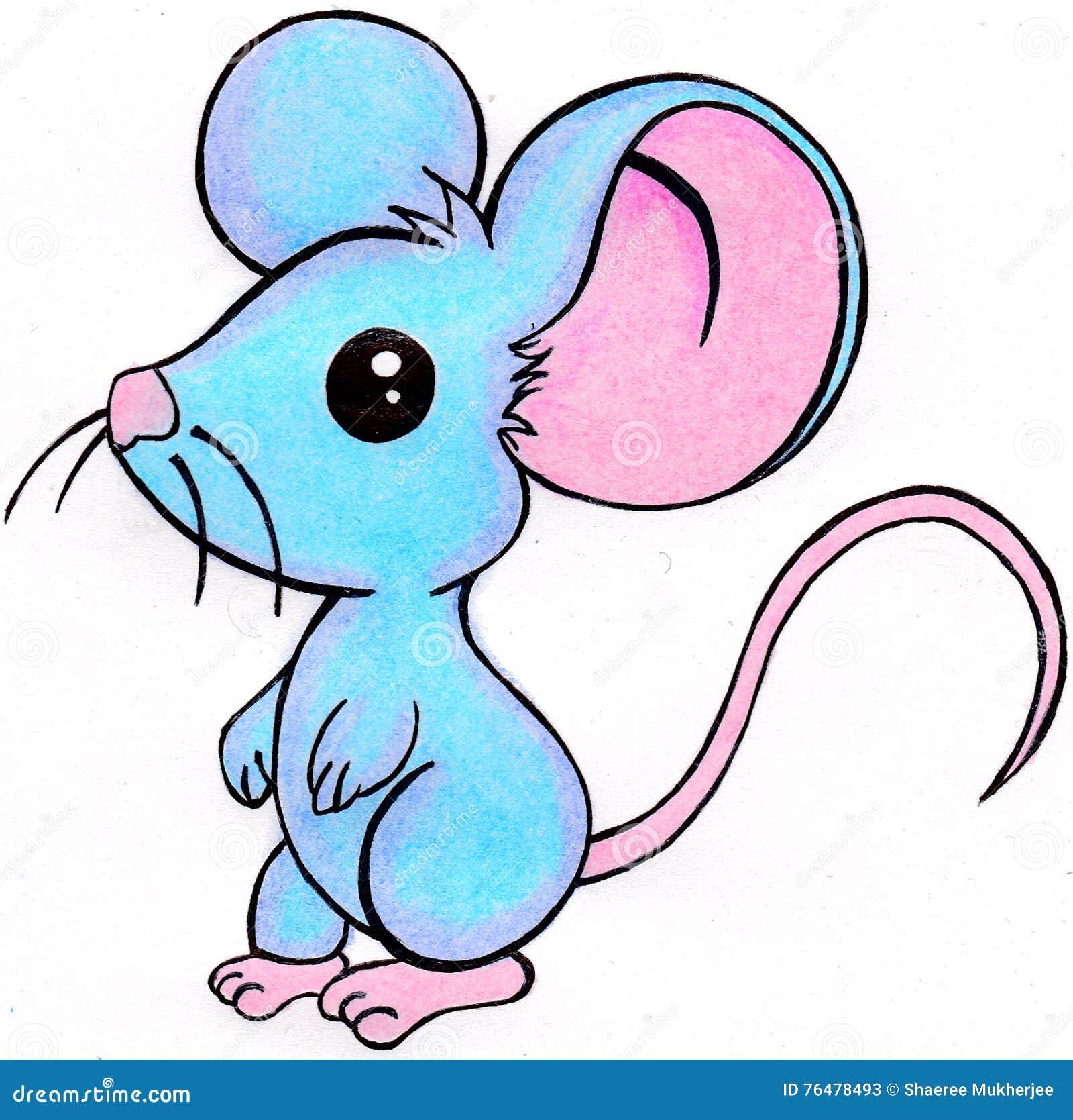 Mysz Rysunek Ilustracji Ilustracja Złożonej Z Wibrujący 76478493