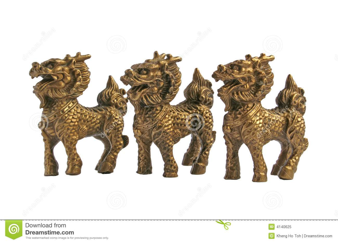 mythical chinese dragon horse royalty free stock photo