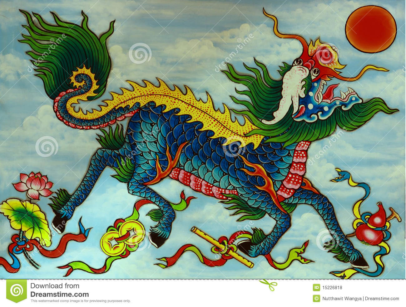 Pictures Of Chinese Painted Dragons