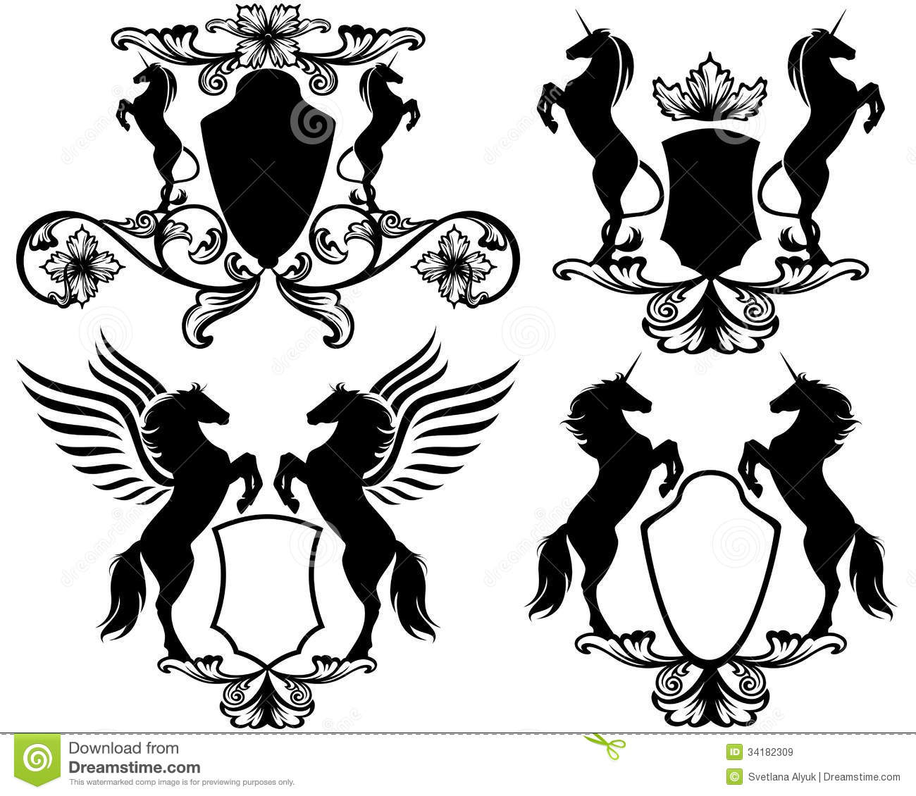 Mythical Heraldry Vector Royalty Free Stock Images - Image: 34182309