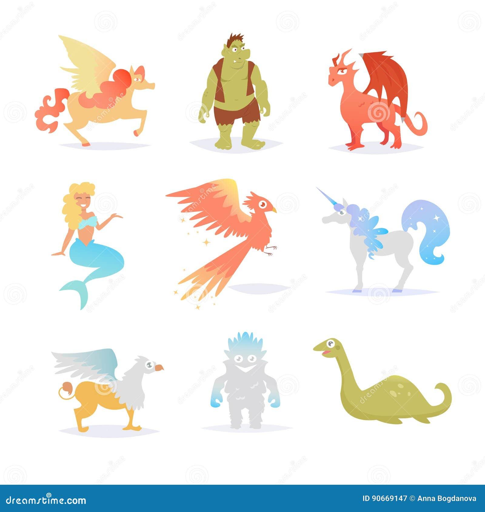Mythological and fairy creatures.