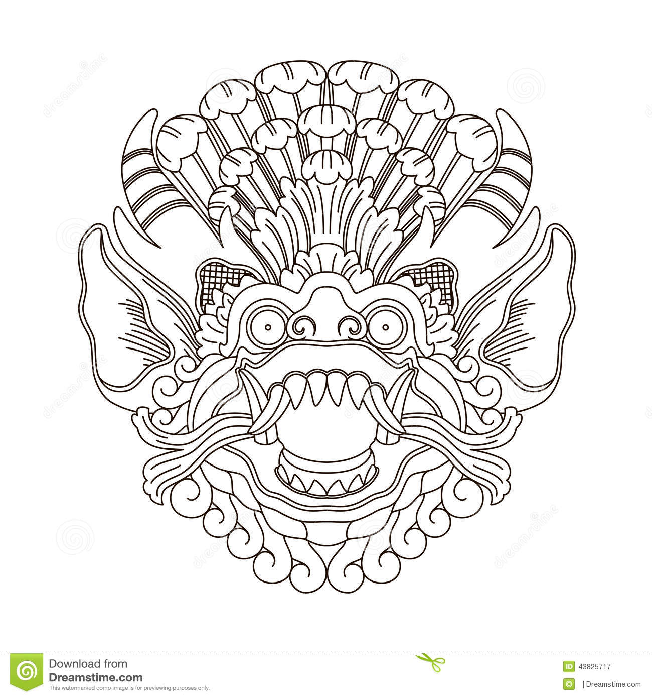 ... Gods Head, Indonesian Traditional Art Stock Vector - Image: 43825717