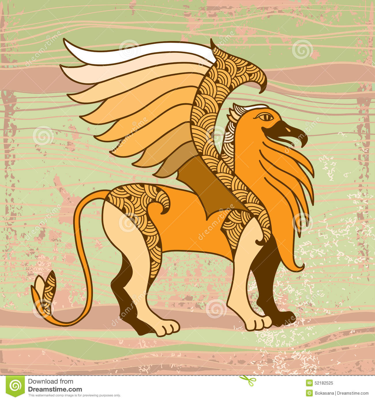 mythological griffin the series of mythological creatures stock