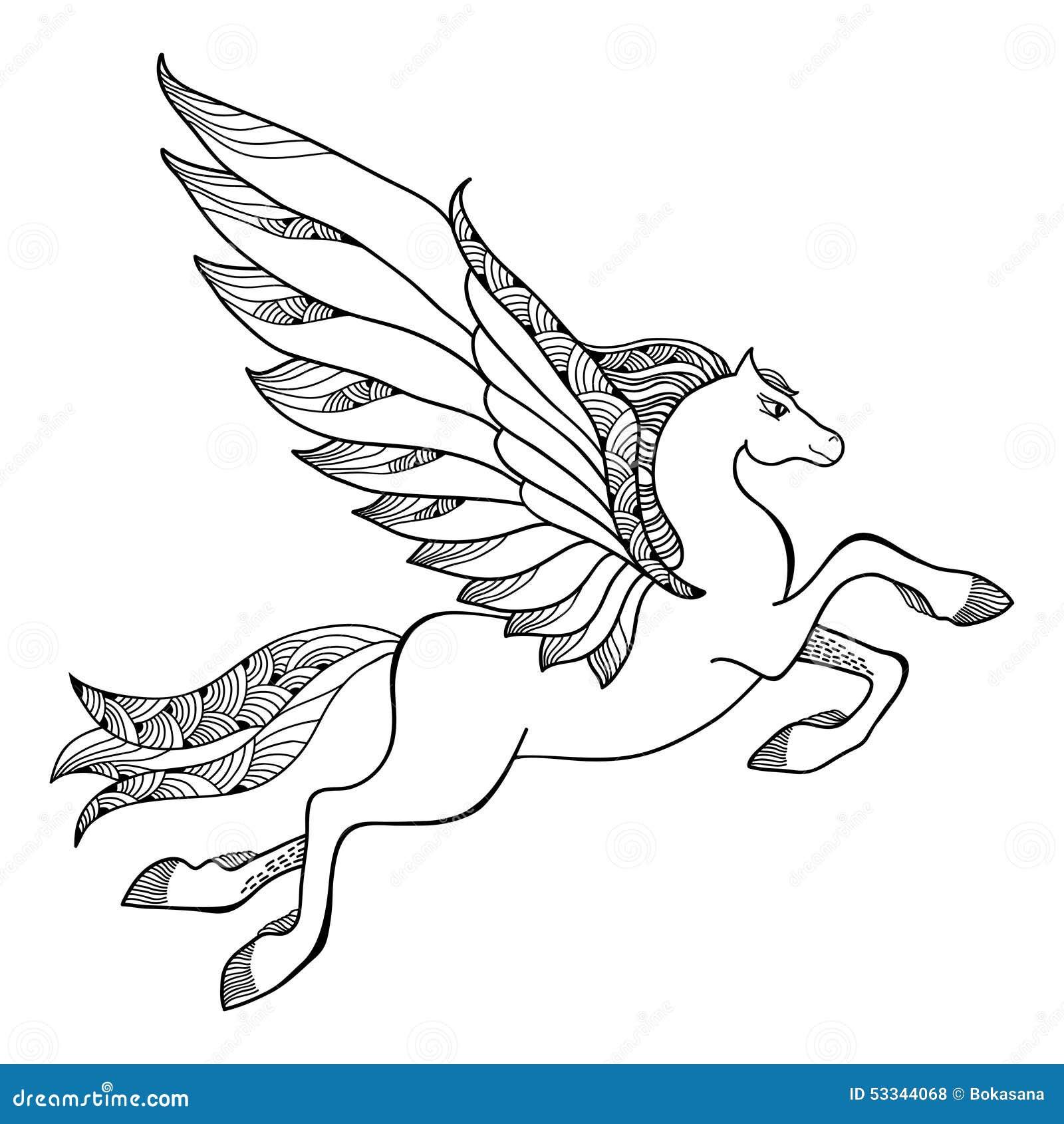 kleurplaat eenhoorn met vleugels kleurplaat eenhoorn