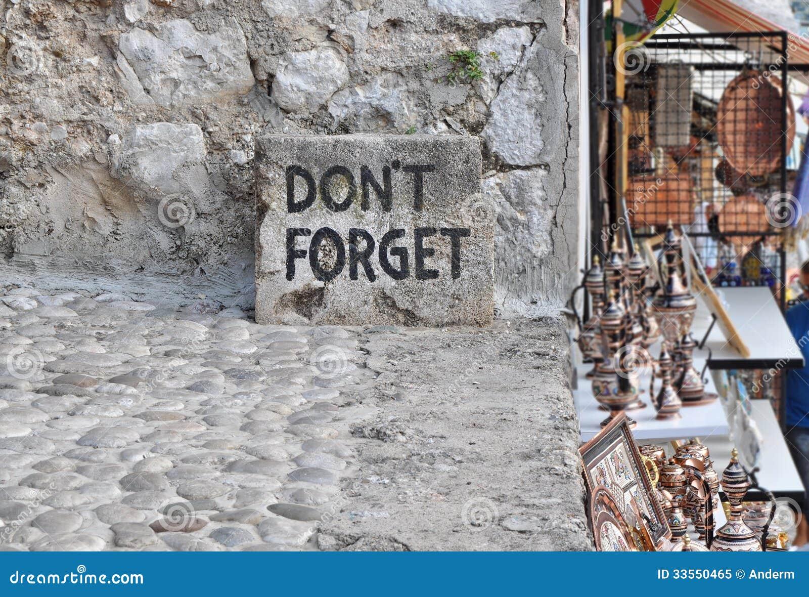 Não esqueça o texto em Mostar,