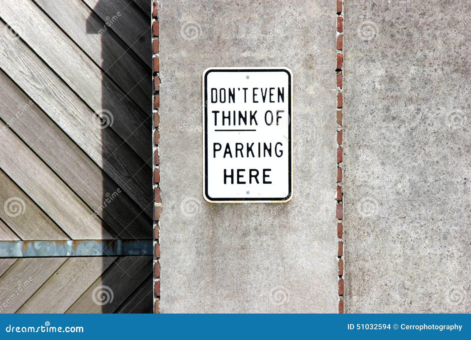 Não estacione aqui