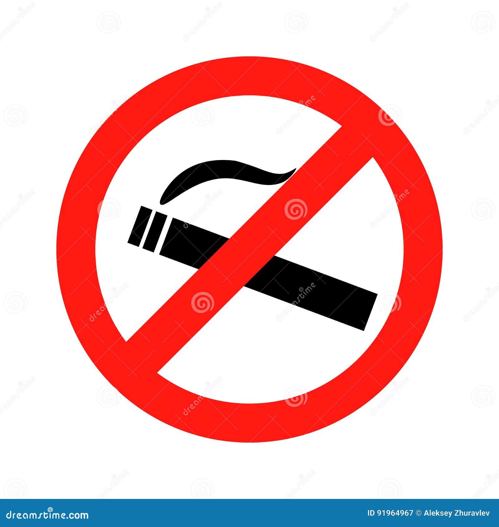 Não fume o vetor do sinal da proibição