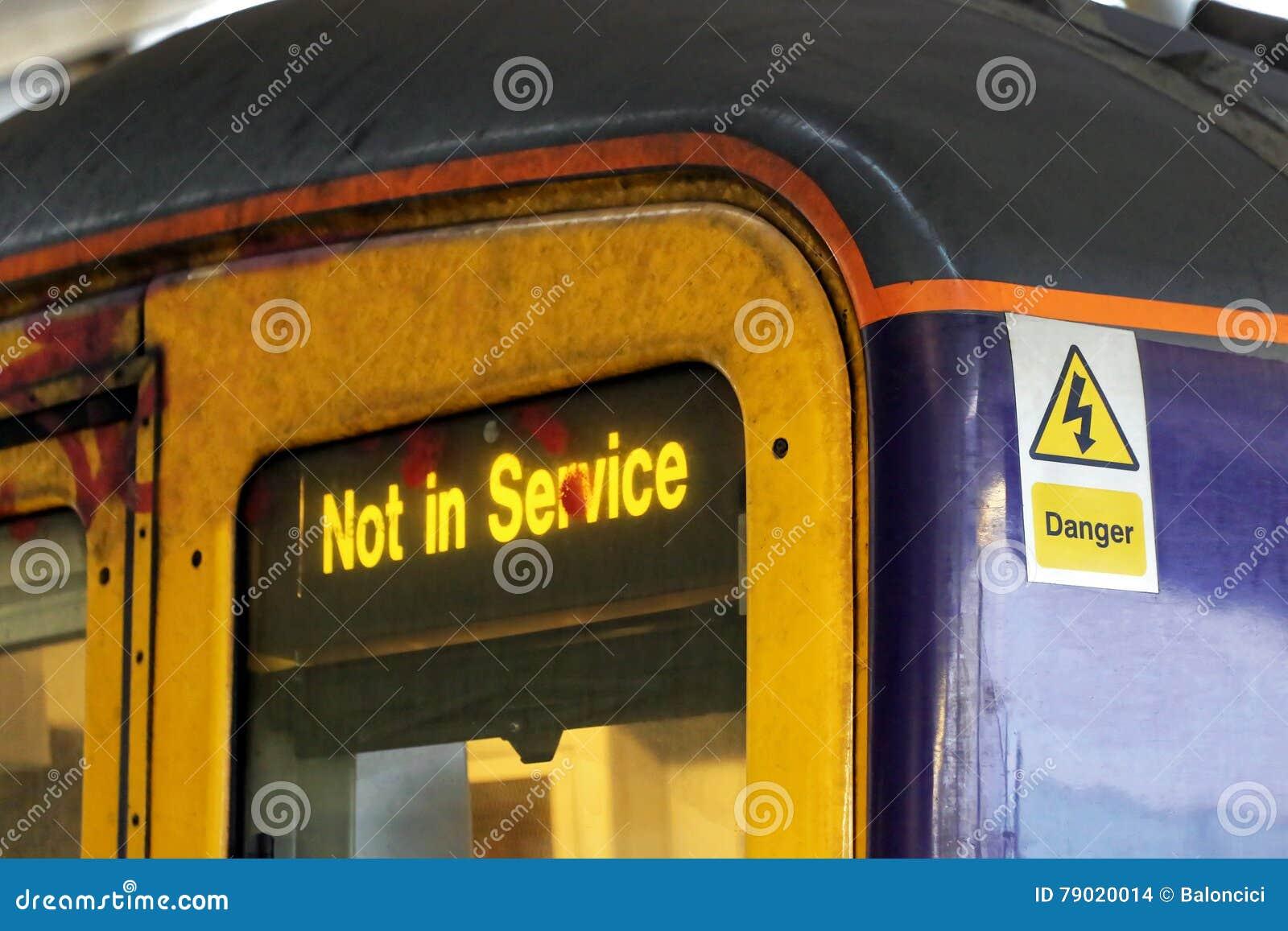Não no trem do serviço