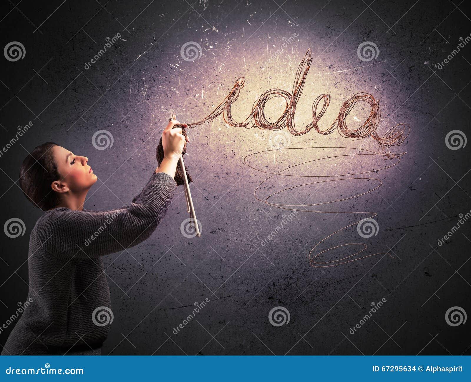 Nähen einer Idee