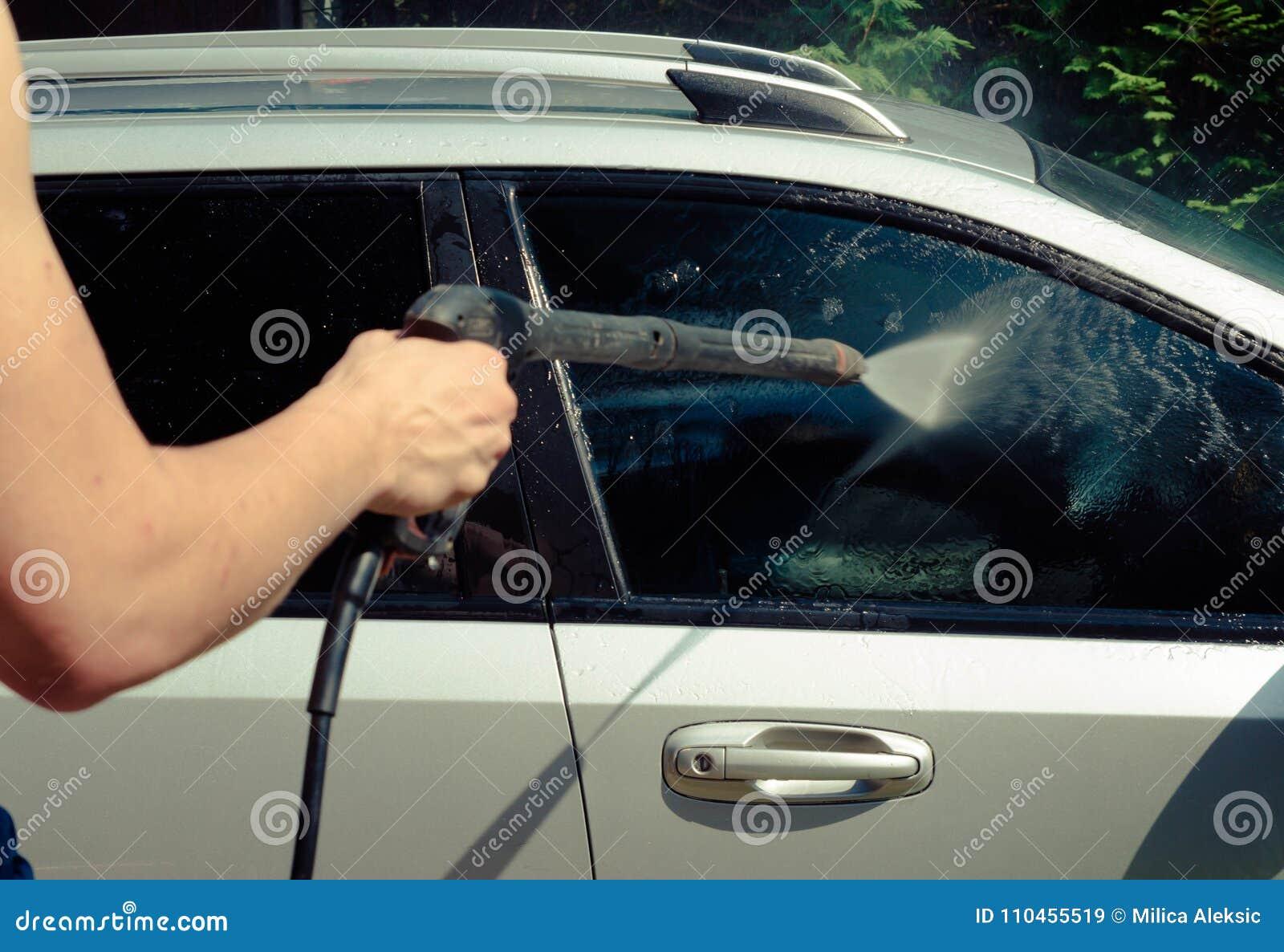 Nära övre för biltvätt