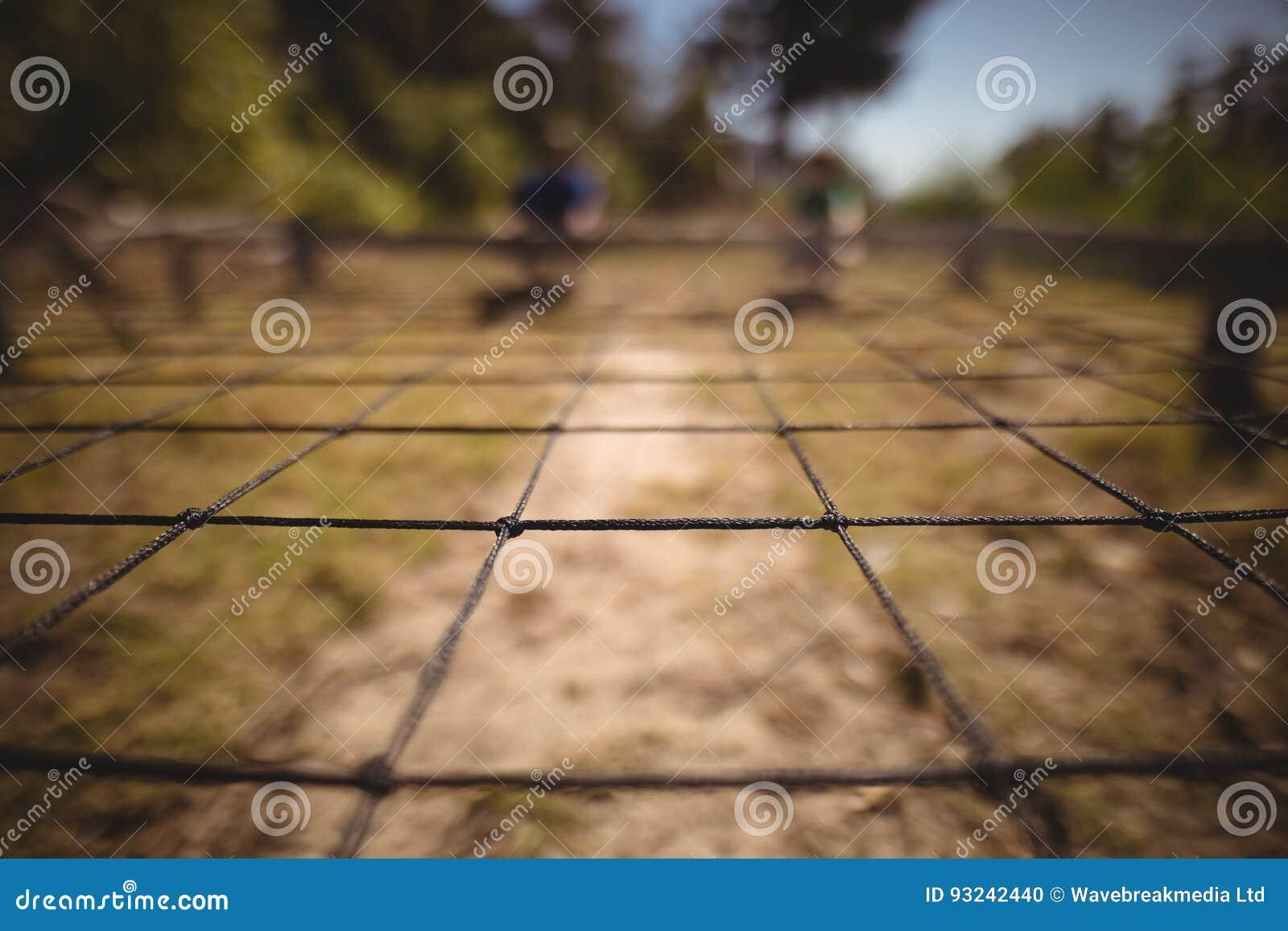 Närbild av netto i kängaläger