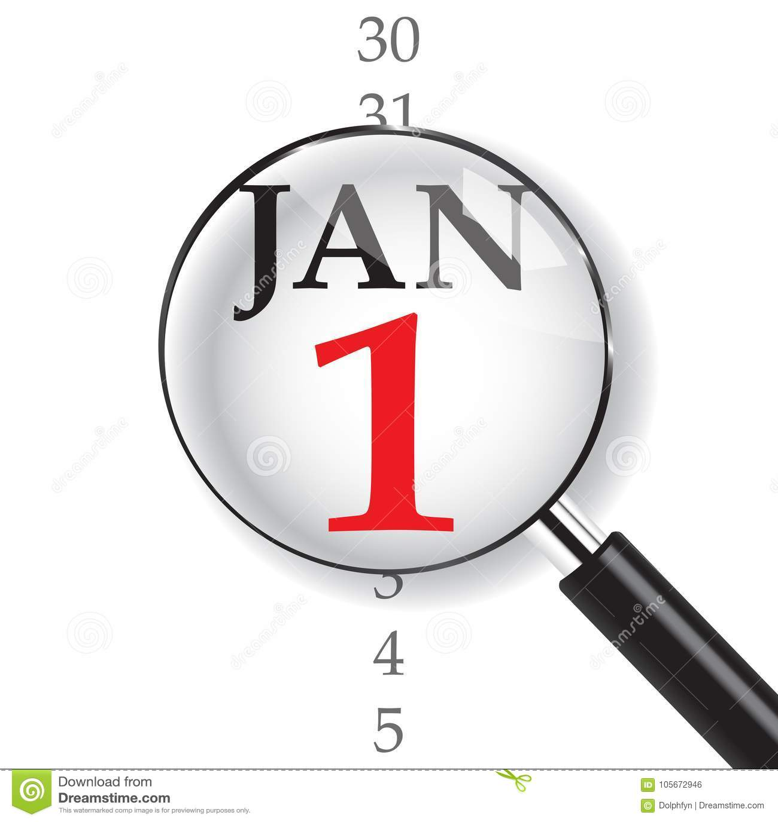 Närbild på 1 Januari