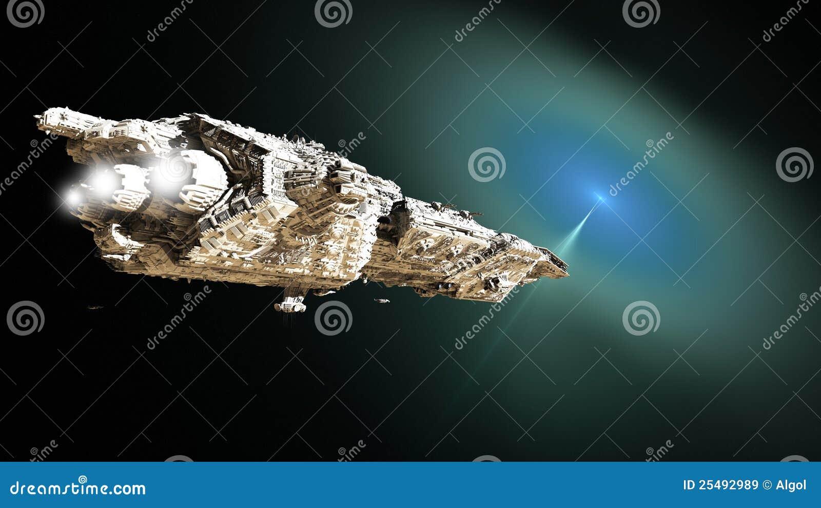 Närmande sig maskhål för sci för stridkryssarefi