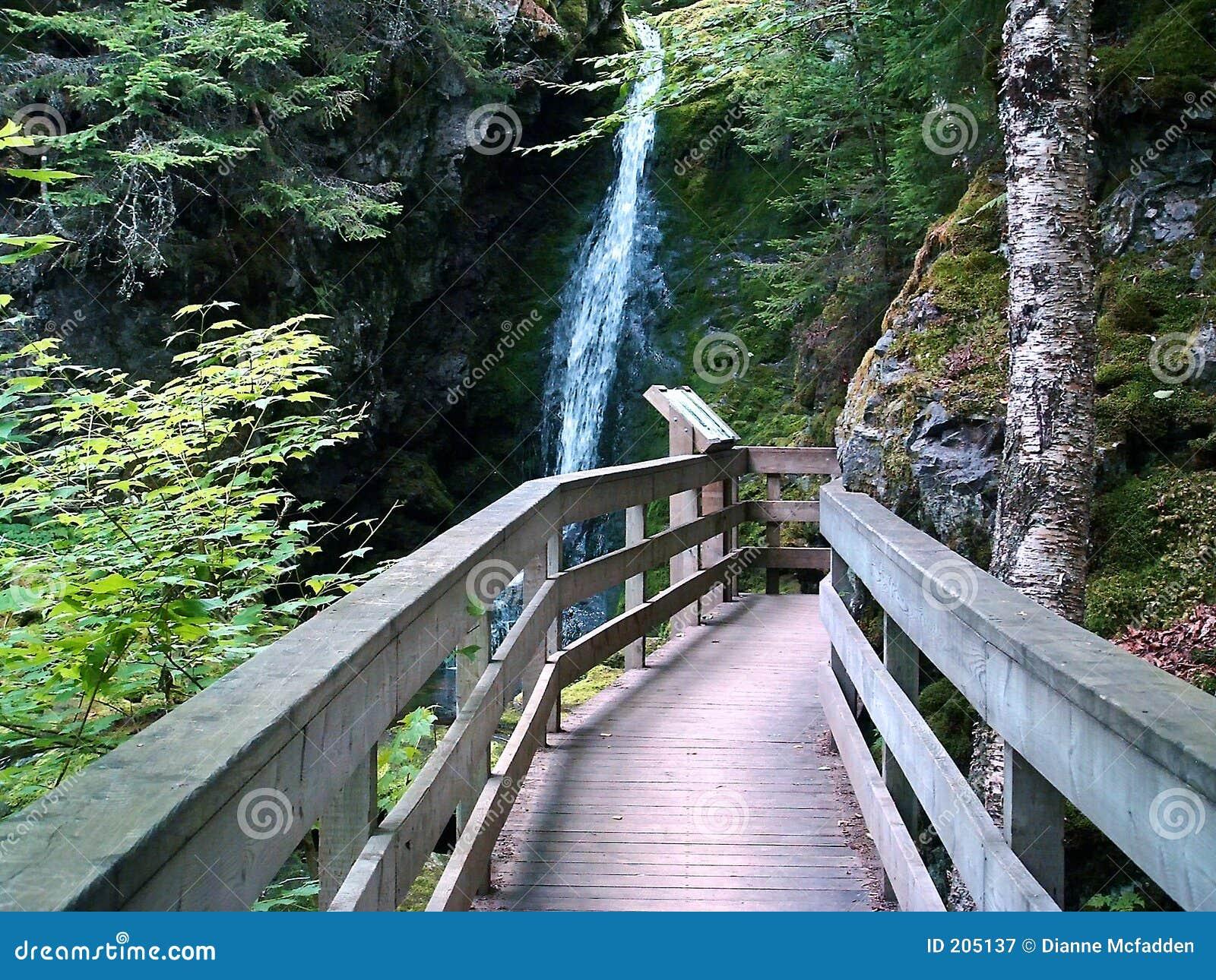 Närmande sig vattenfall