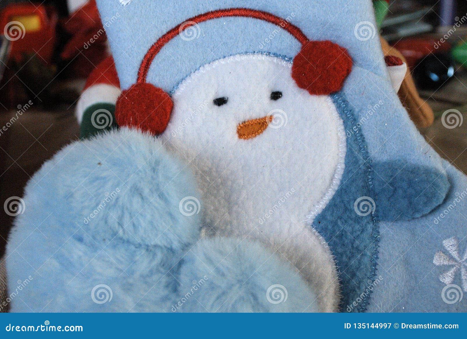 Nätt behandla som ett barn blåa mjuka objekt för jul