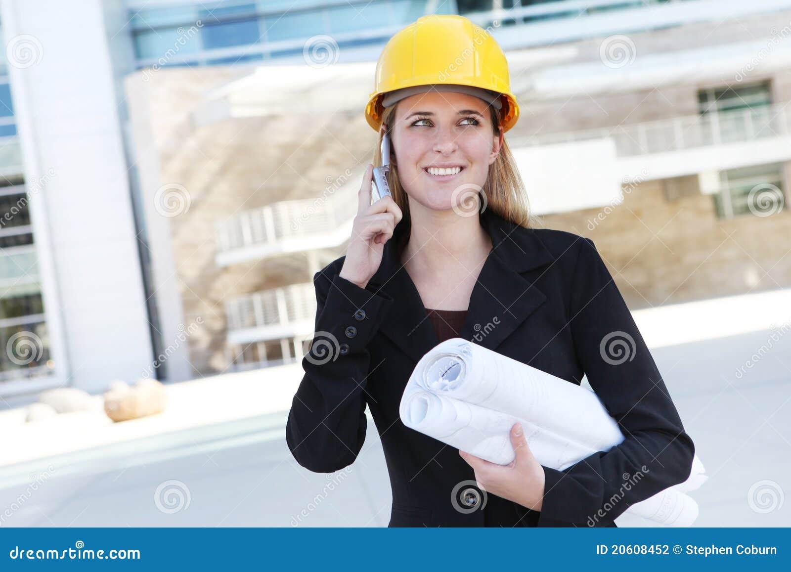 Nätt kvinna för arkitektaffär