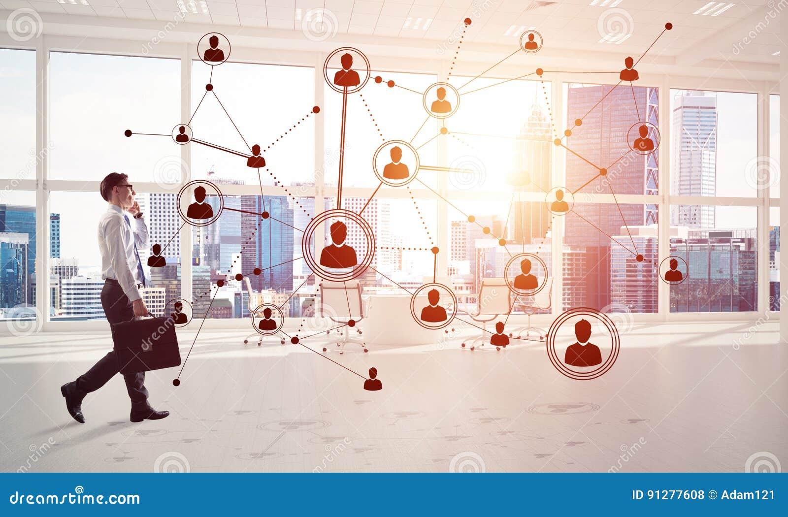 Nätverkande- och samkvämkommunikationsbegrepp som effektiv punkt f