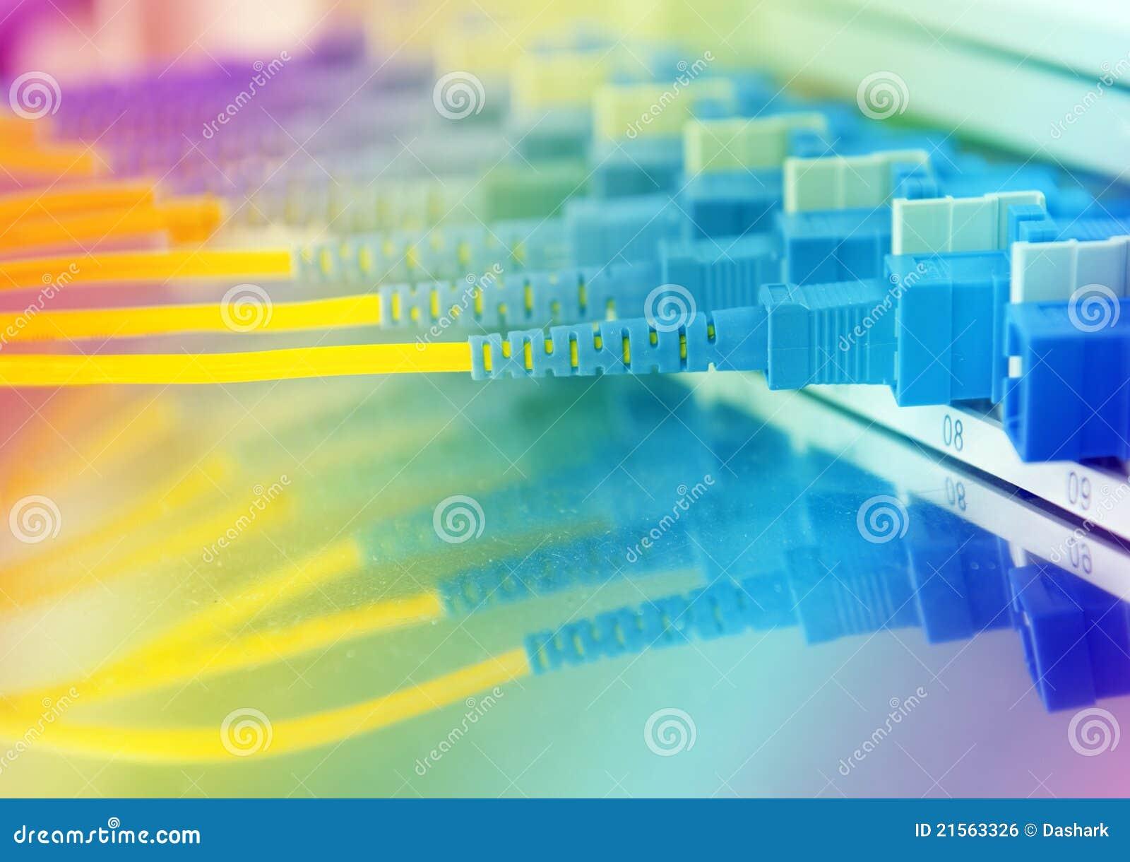 Nätverkskablar och serveror